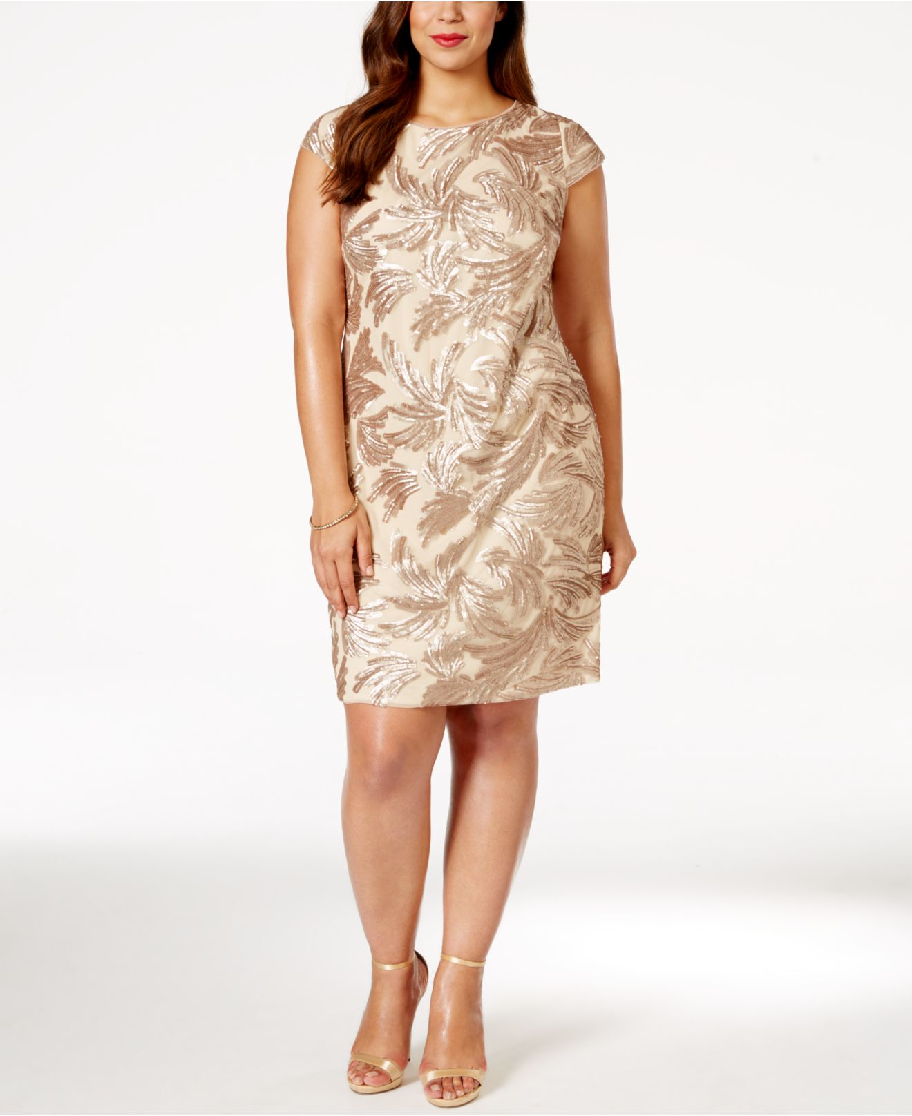 Adrianna papell Plus Size Sequined Sheath Dress in ...