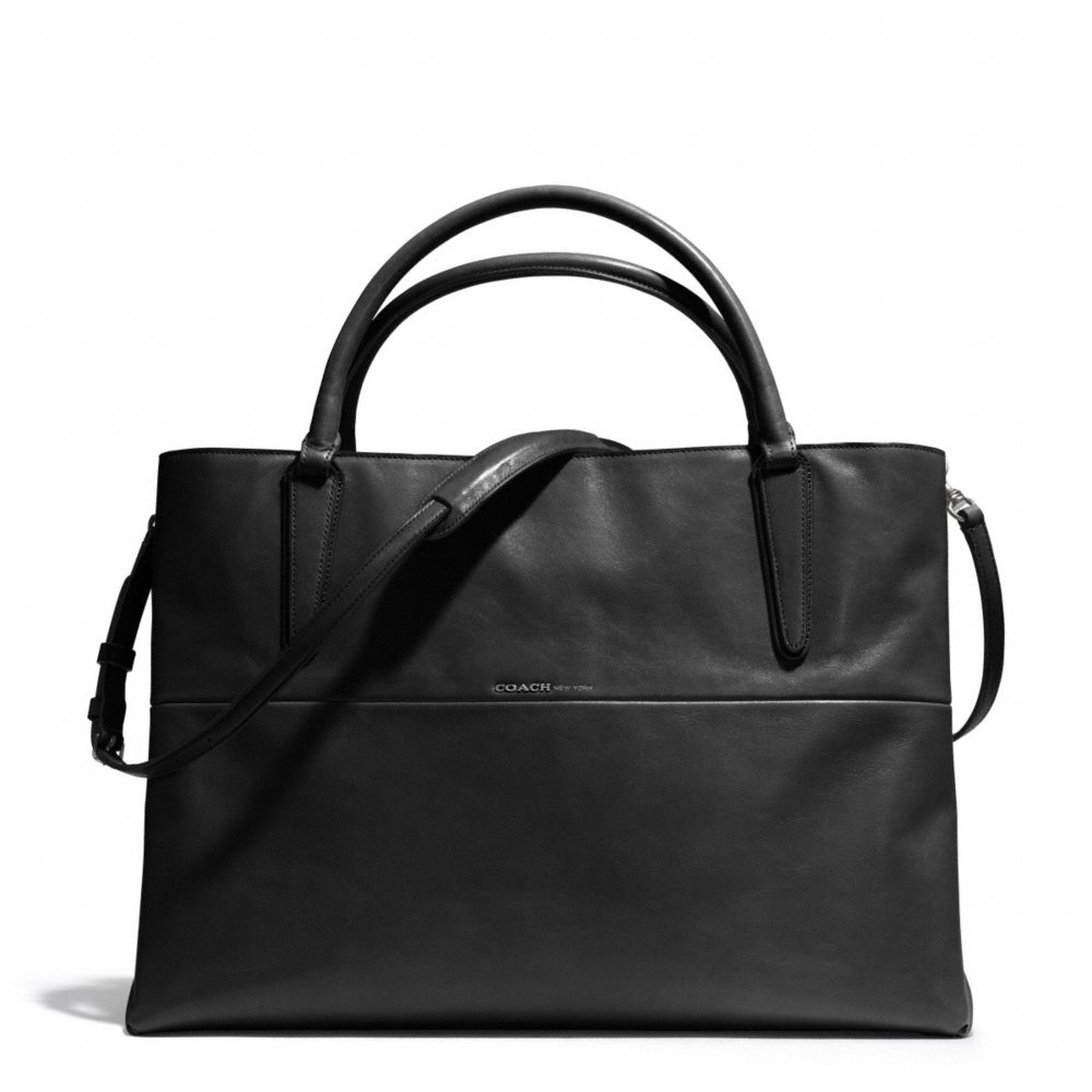 Lyst Coach Large Soft Borough Bag In Nappa Leather Black Small Margot Carryall Signature Canvas F34608 Be Inspired