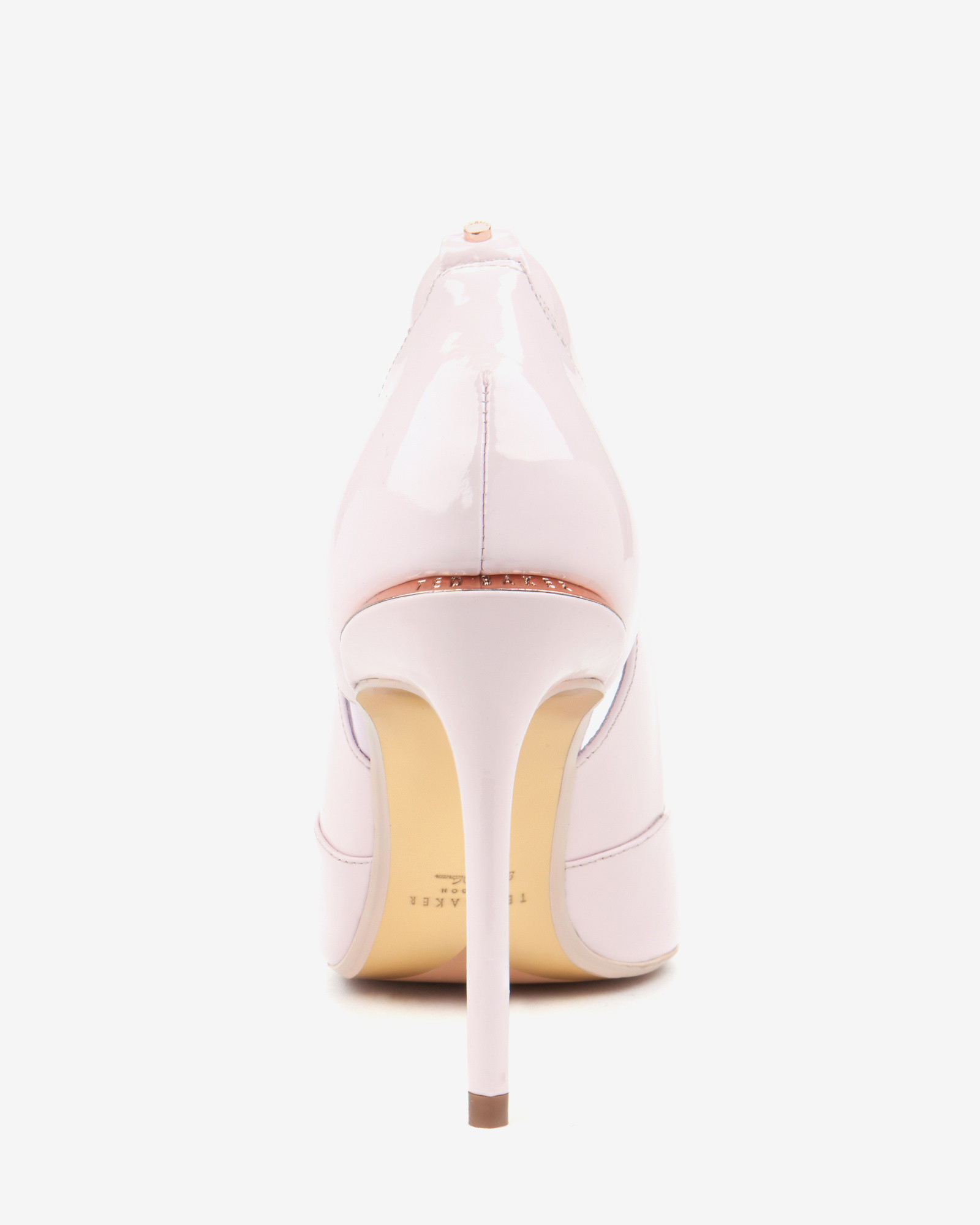 ted baker cut out leather court shoes in pink lyst