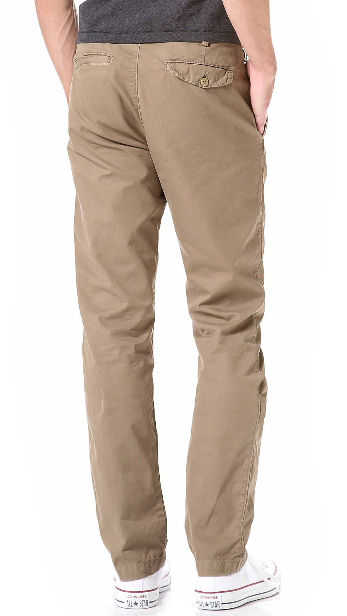 Save khaki Light Twill Slim Chinos in Natural for Men | Lyst