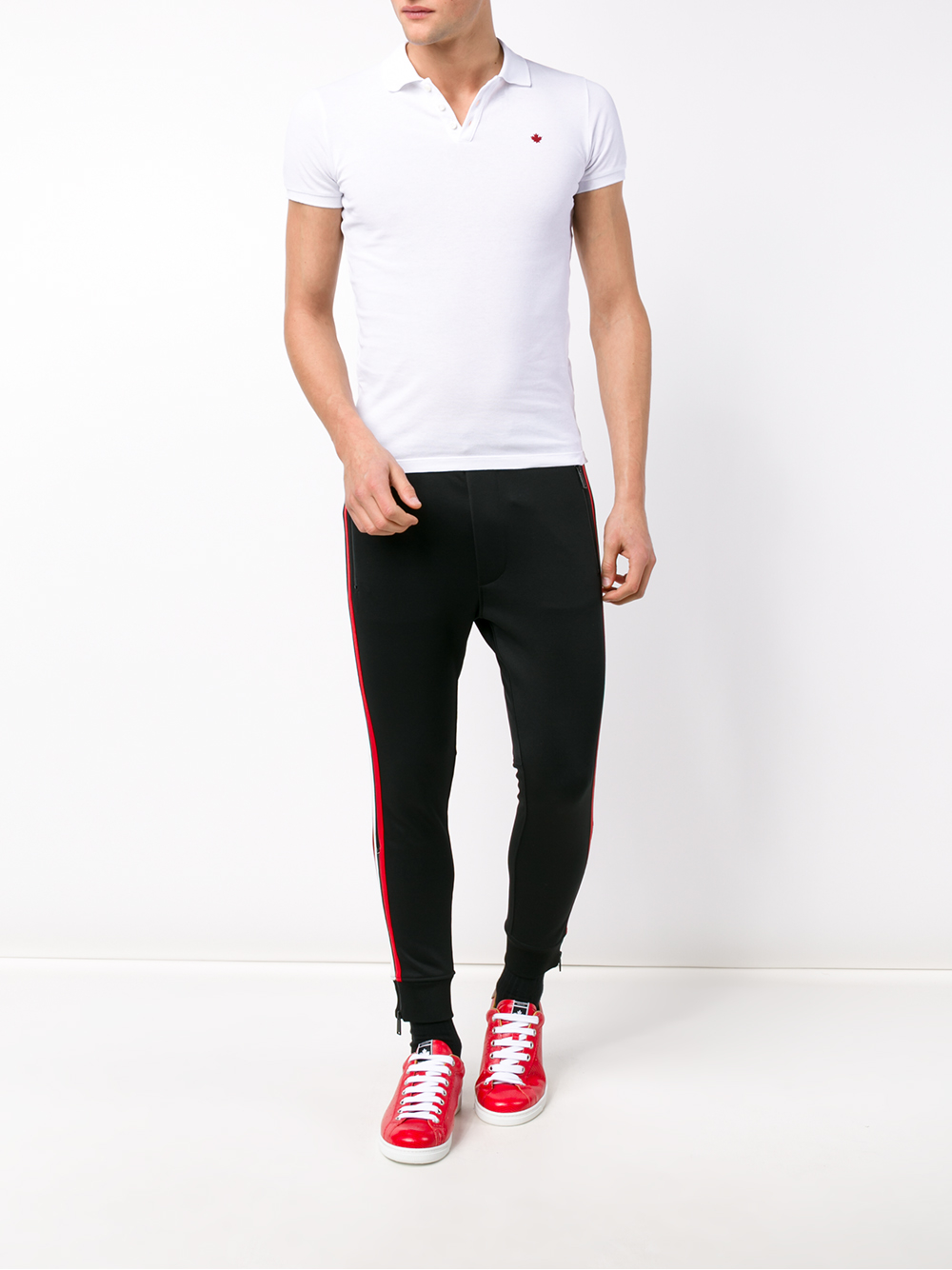 2020 enjoy cheap price outlet boutique DSquared² Striped Joggers in Black Red (Black) for Men - Lyst