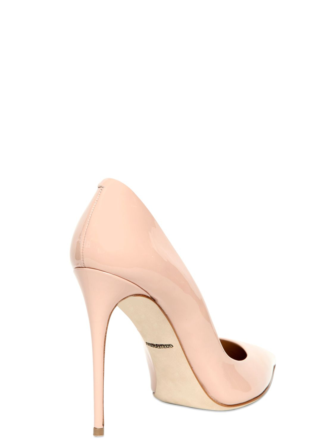 cb294fed079c Dolce   Gabbana 105mm Kate Patent Leather Pumps in Pink - Lyst