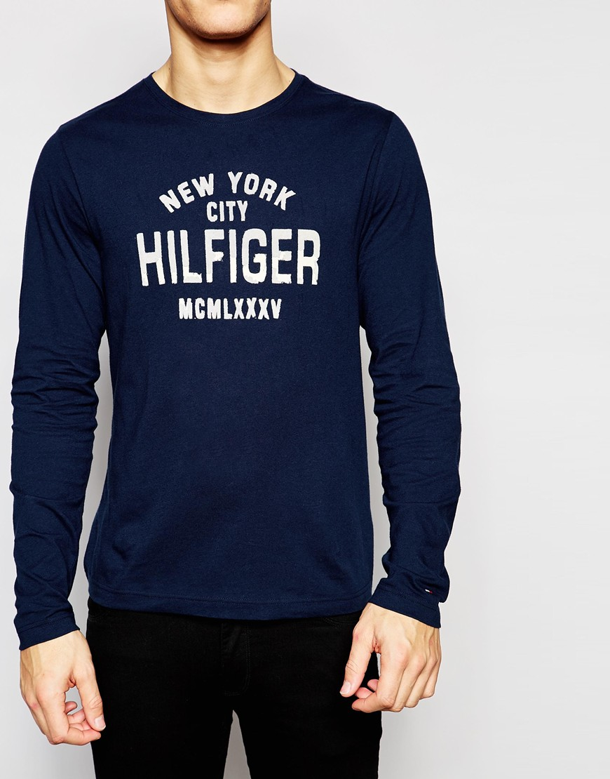 Lyst - Tommy Hilfiger Long Sleeve T-shirt With New York Print In ... b9b4f2e4f0d