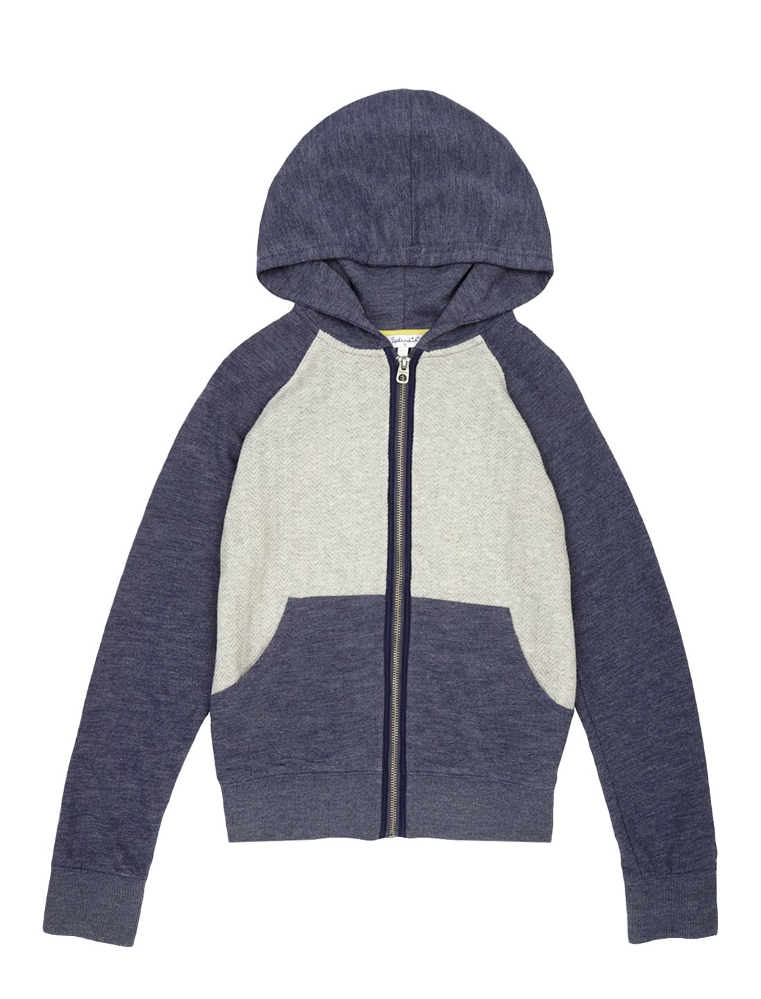 Splendid Boy Textured Knit Hoodie In Blue Lyst