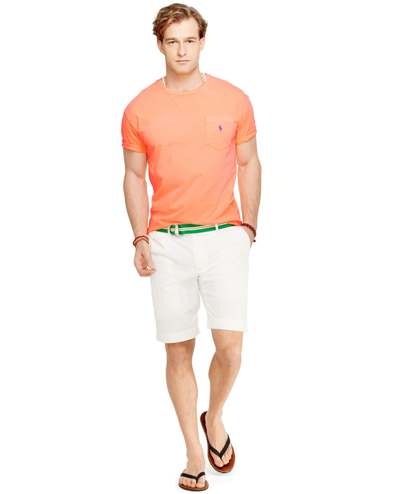 Polo ralph lauren classic fit neon jersey pocket crew neck for Polo t shirts with pocket online