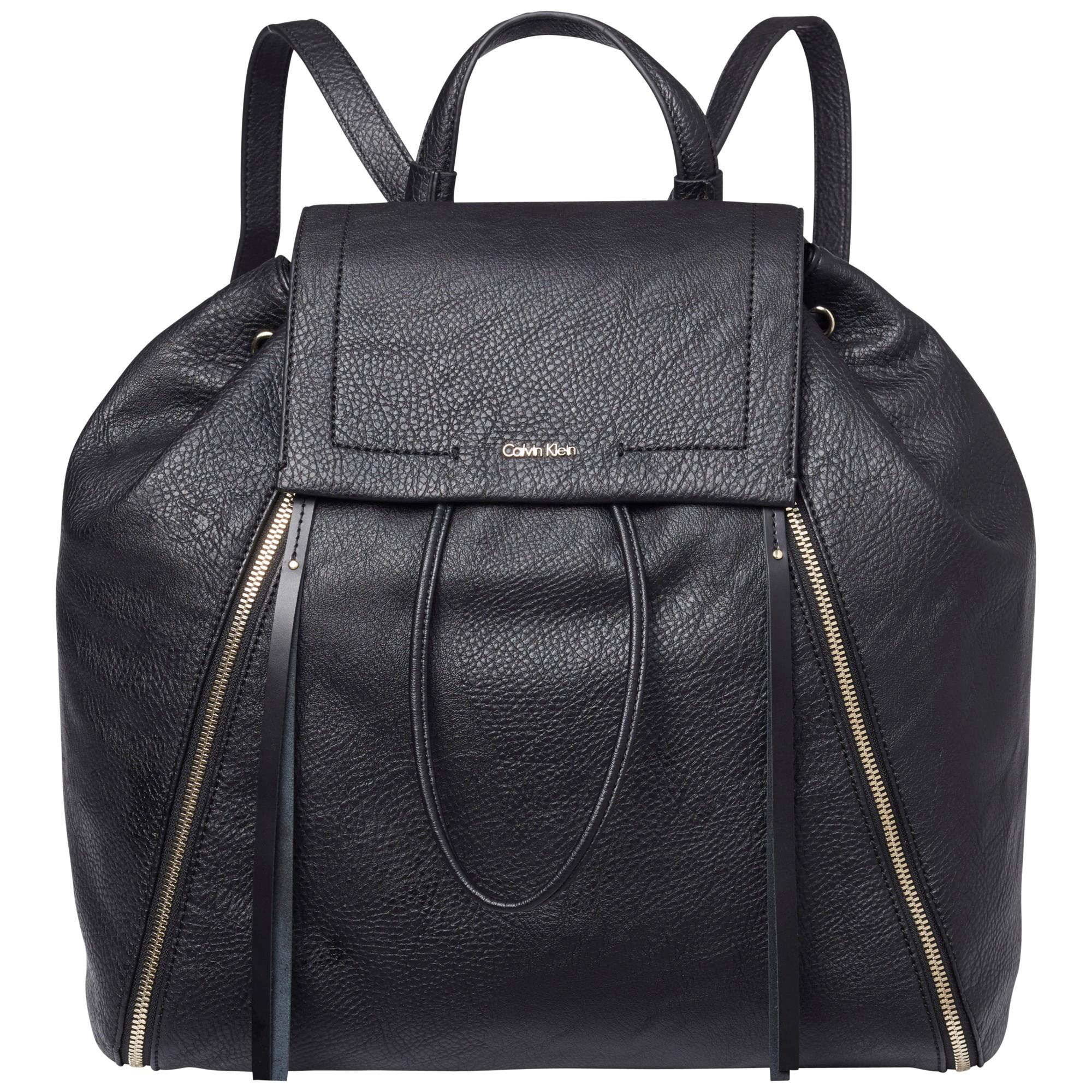 Calvin Klein Izzy Backpack Black 40630510   H40.64 x W39.37 x D17.78cm