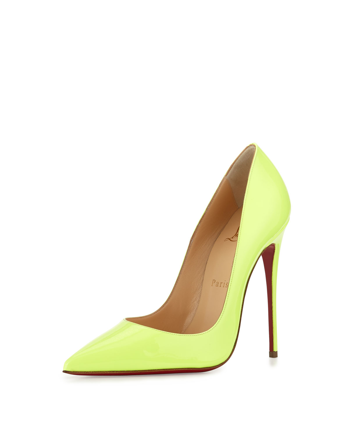 replica christian louboutin shoes - christian louboutin peep-toe slingback wedges Green patent leather ...