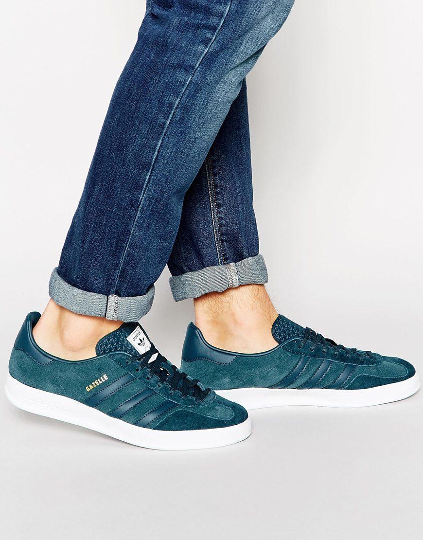 Adidas Original Gazelle Indoor Green Trainers