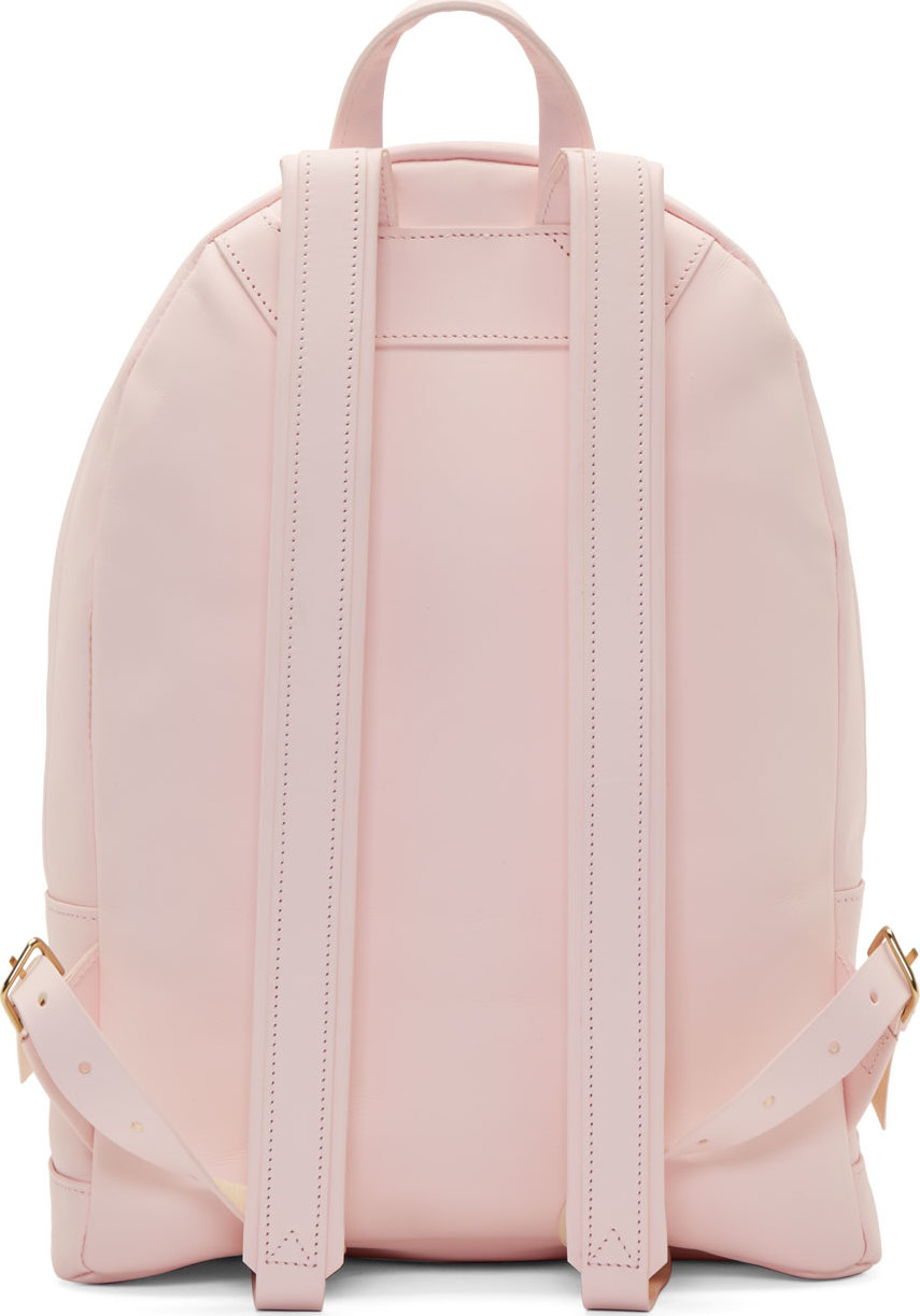 c6fc7987842 Lyst - PB 0110 Rose Pink Matte Leather Small Backpack in Pink