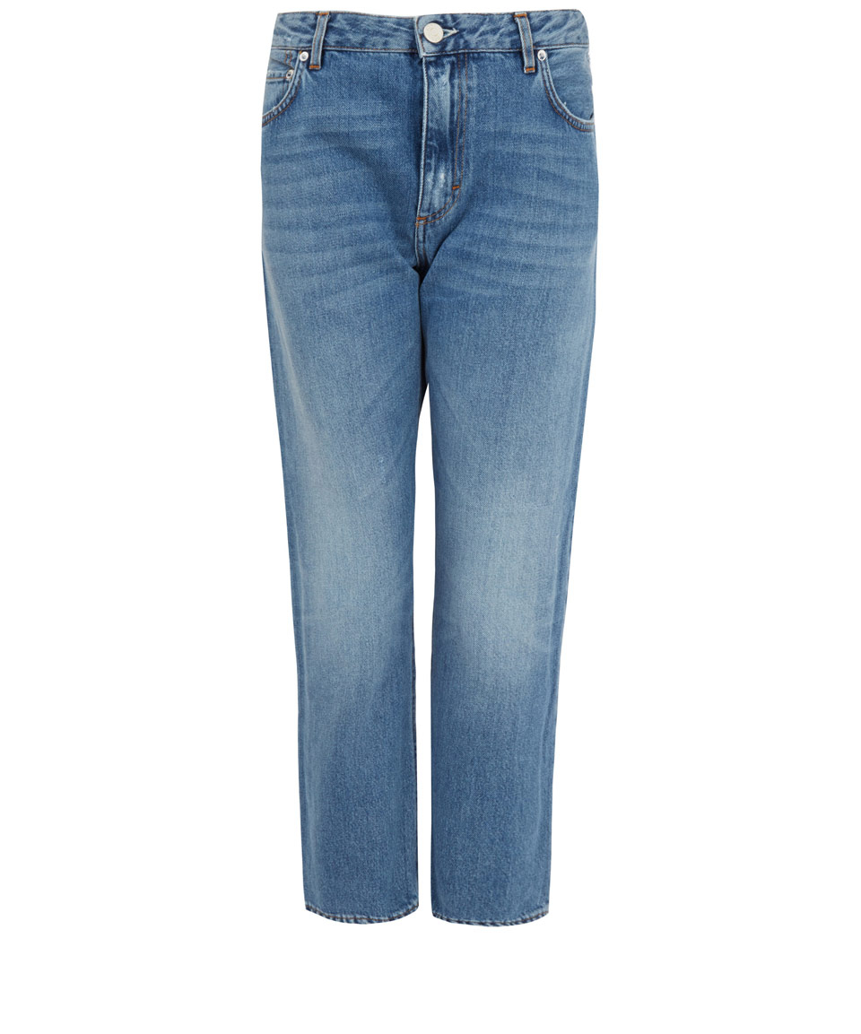 acne studios light blue pop vintage cropped jeans in blue lyst. Black Bedroom Furniture Sets. Home Design Ideas