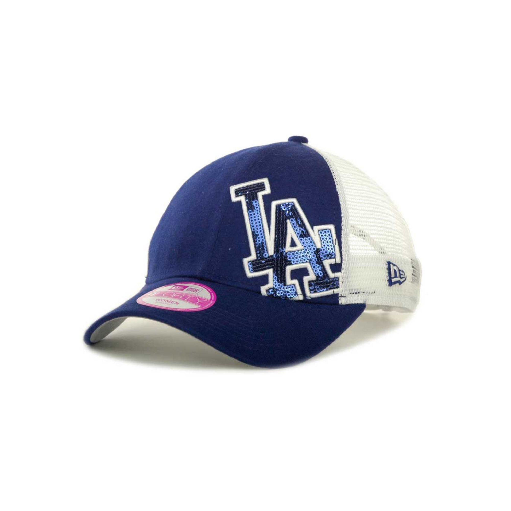 new era womens los angeles dodgers sequin shimmer 9forty