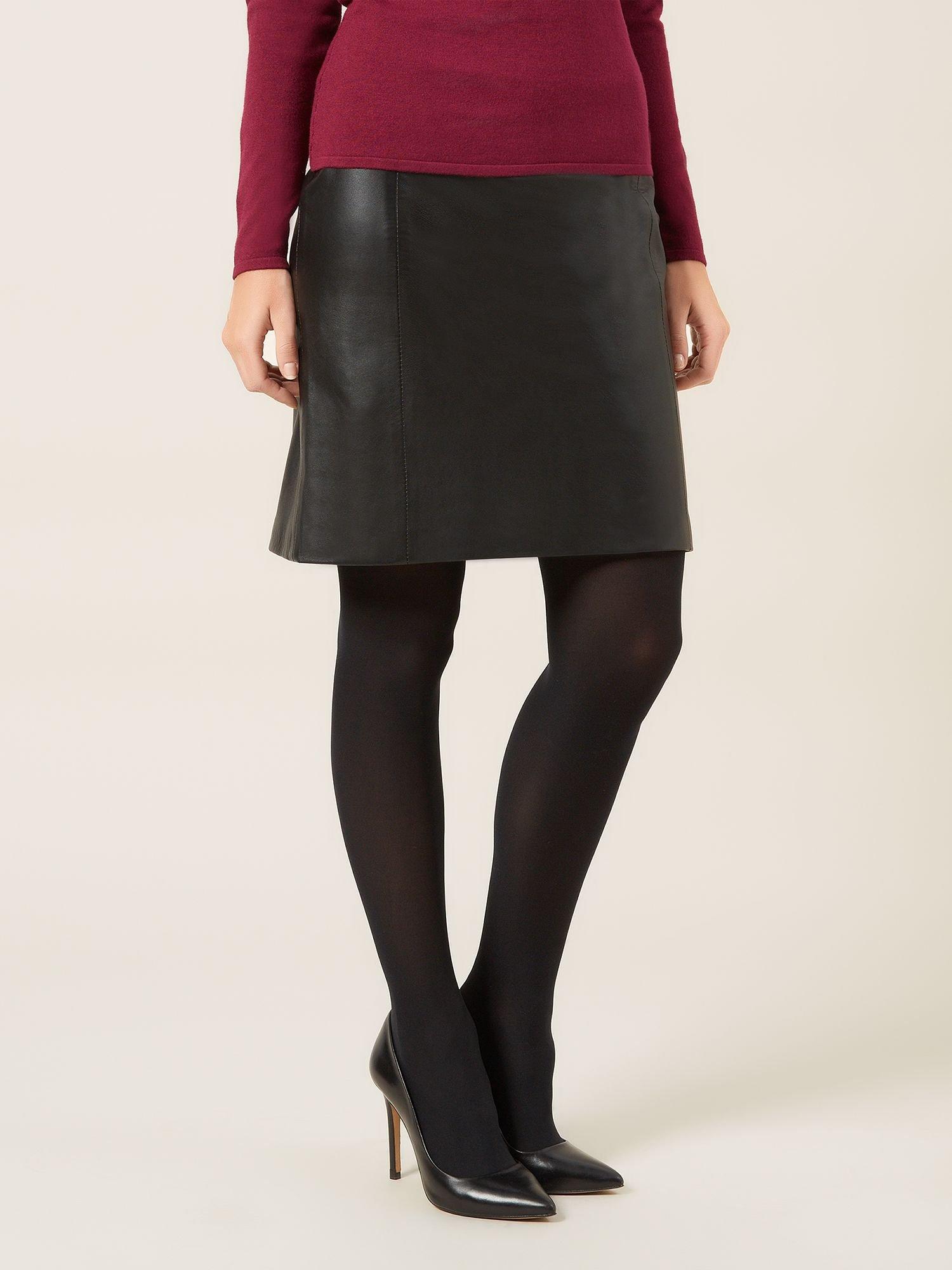 Petite Black Leather Skirt   Jill Dress