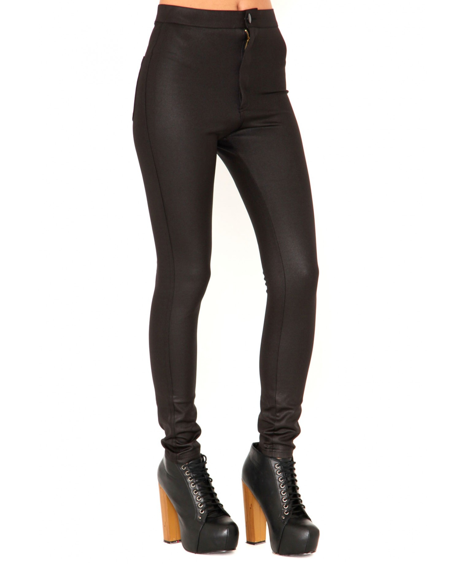 02d0066ecc0 Lyst - Missguided Eugenie Shiny Disco Pants In Black in Black