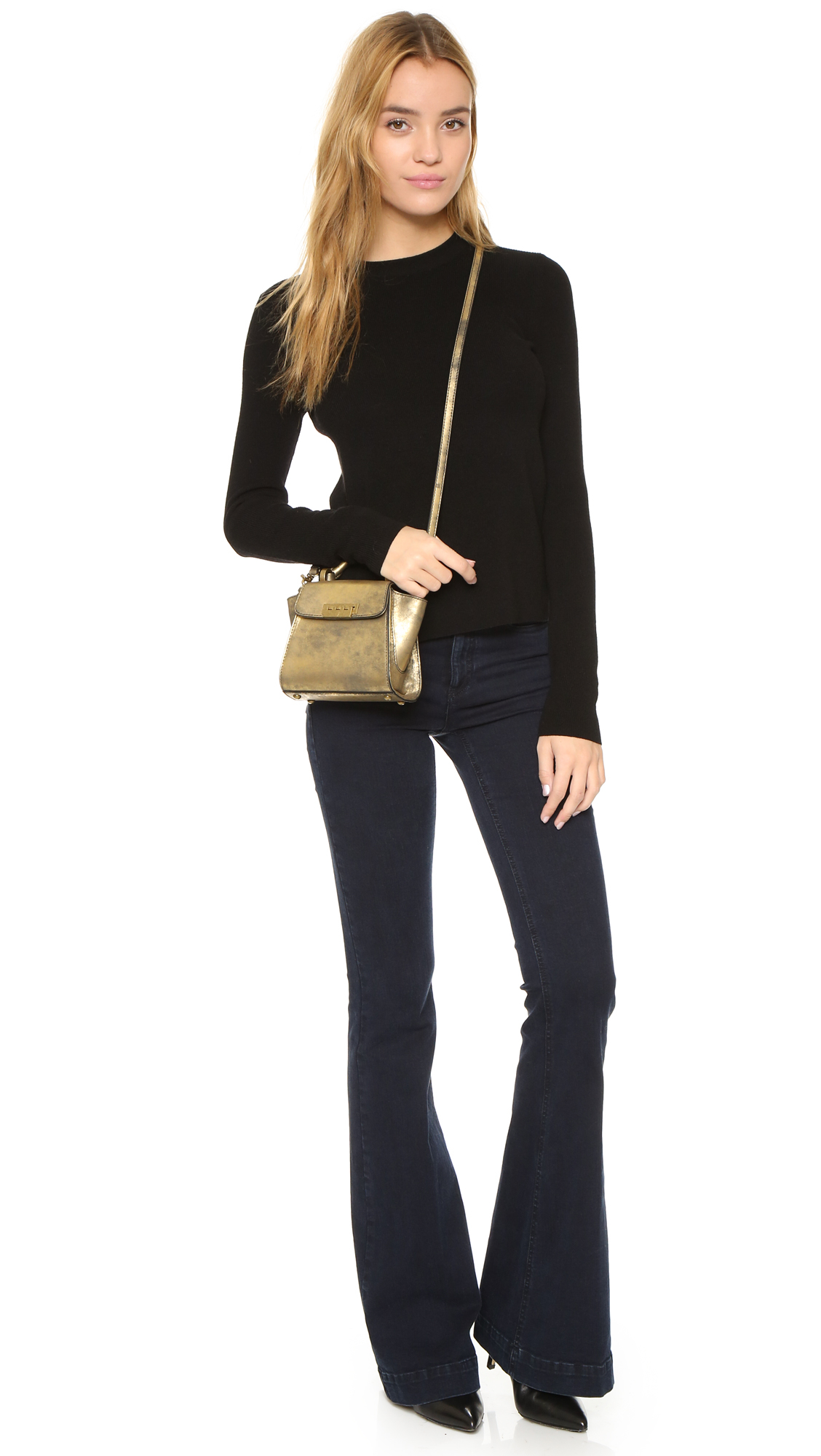 Zac Zac Posen Eartha Mini Top Handle Cross Body Bag In