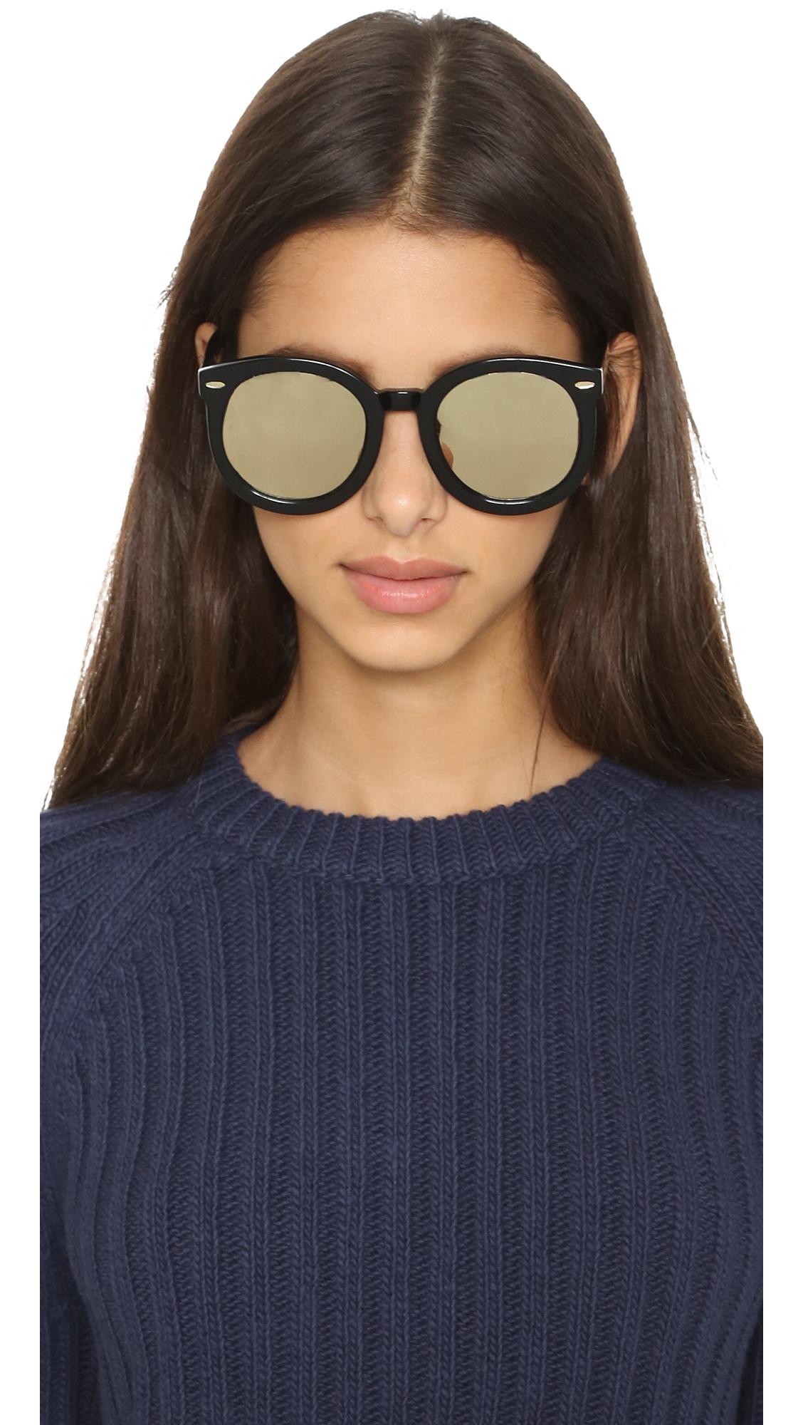 2bc310b1513 Lyst - Karen Walker Superstars Super Duper Strength Sunglasses ...
