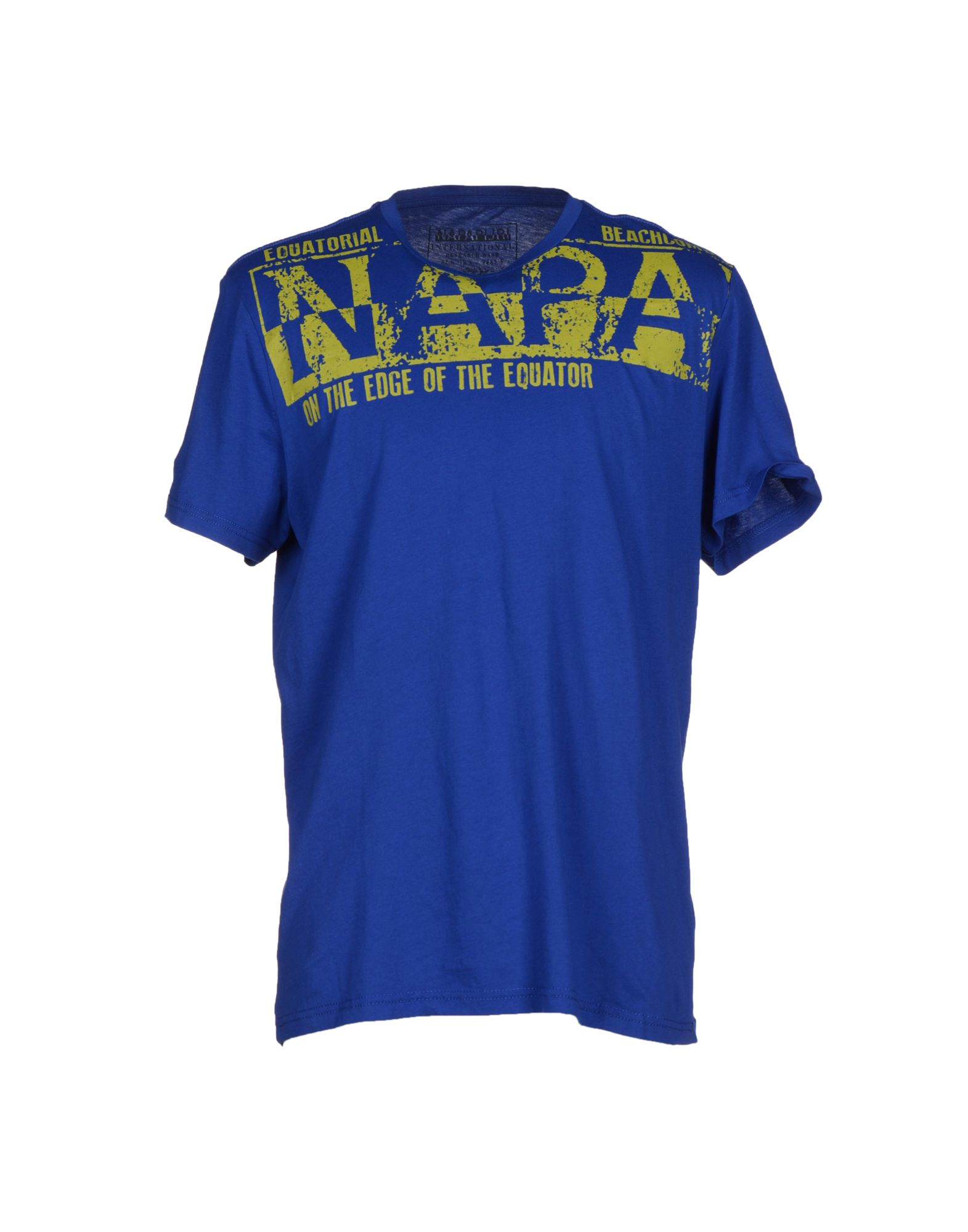 lyst napapijri t shirt in blue for men. Black Bedroom Furniture Sets. Home Design Ideas