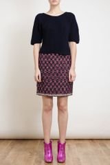 Lanvin Bouclé Tweed Pencil Skirt - Lyst