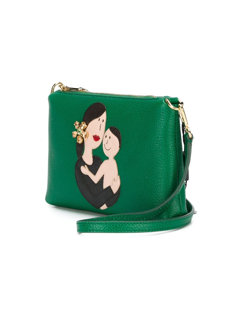 d31292946439 Lyst - Dolce   Gabbana Family Patch Crossbody Bag in Green