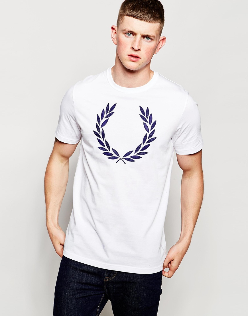 Fred Perry T-shirt With Laurel Wreath Logo White in White ...