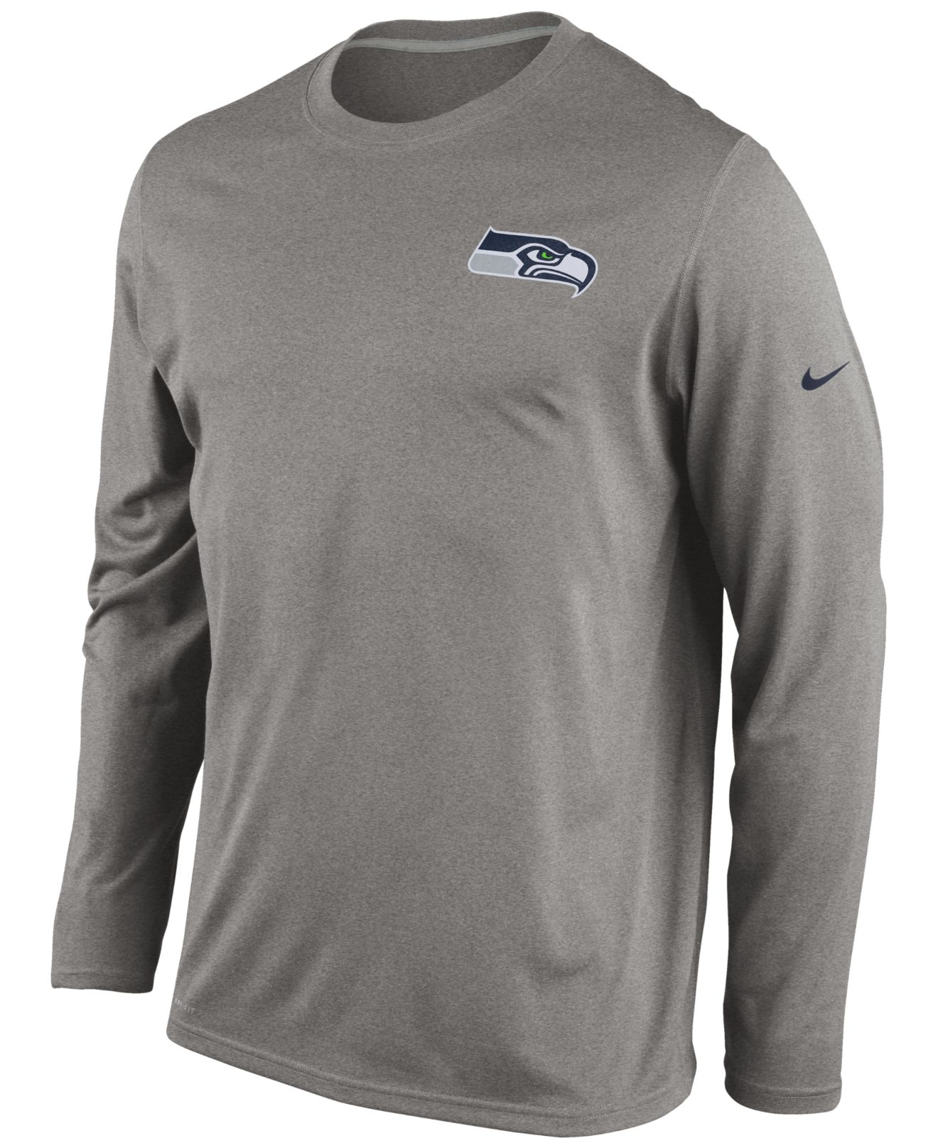 e59f9461eda135 ... authentic lyst nike mens long sleeve seattle seahawks dri fit t shirt  in de589 2c3fc