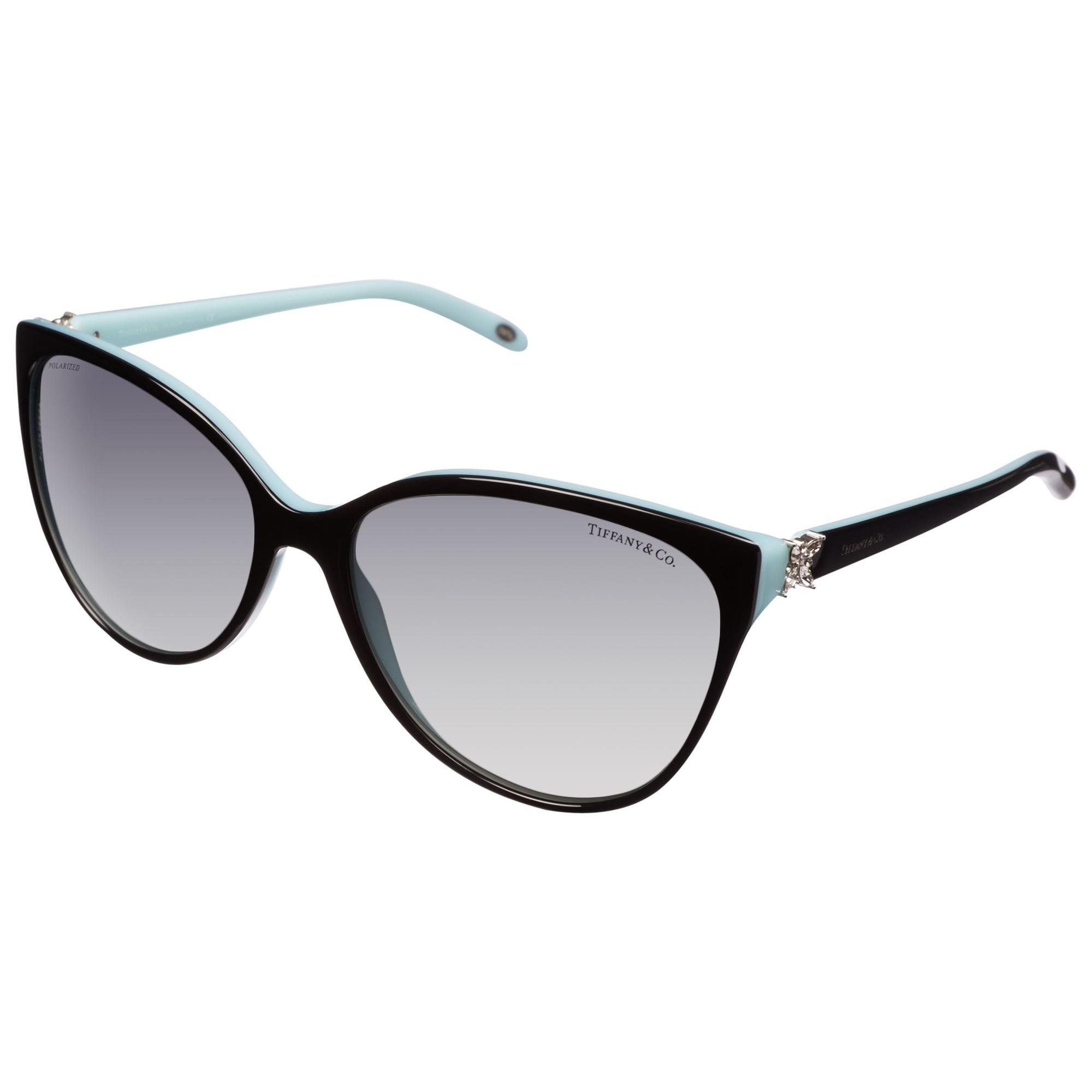 266f43a1ebf Tiffany   Co. Tf4089B Cat S Eye Sunglasses in Black - Lyst