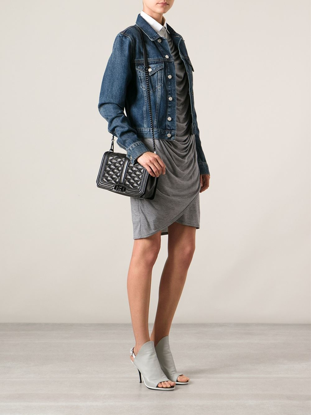 Lyst Rebecca Minkoff Love Quilted Cross Body in Black
