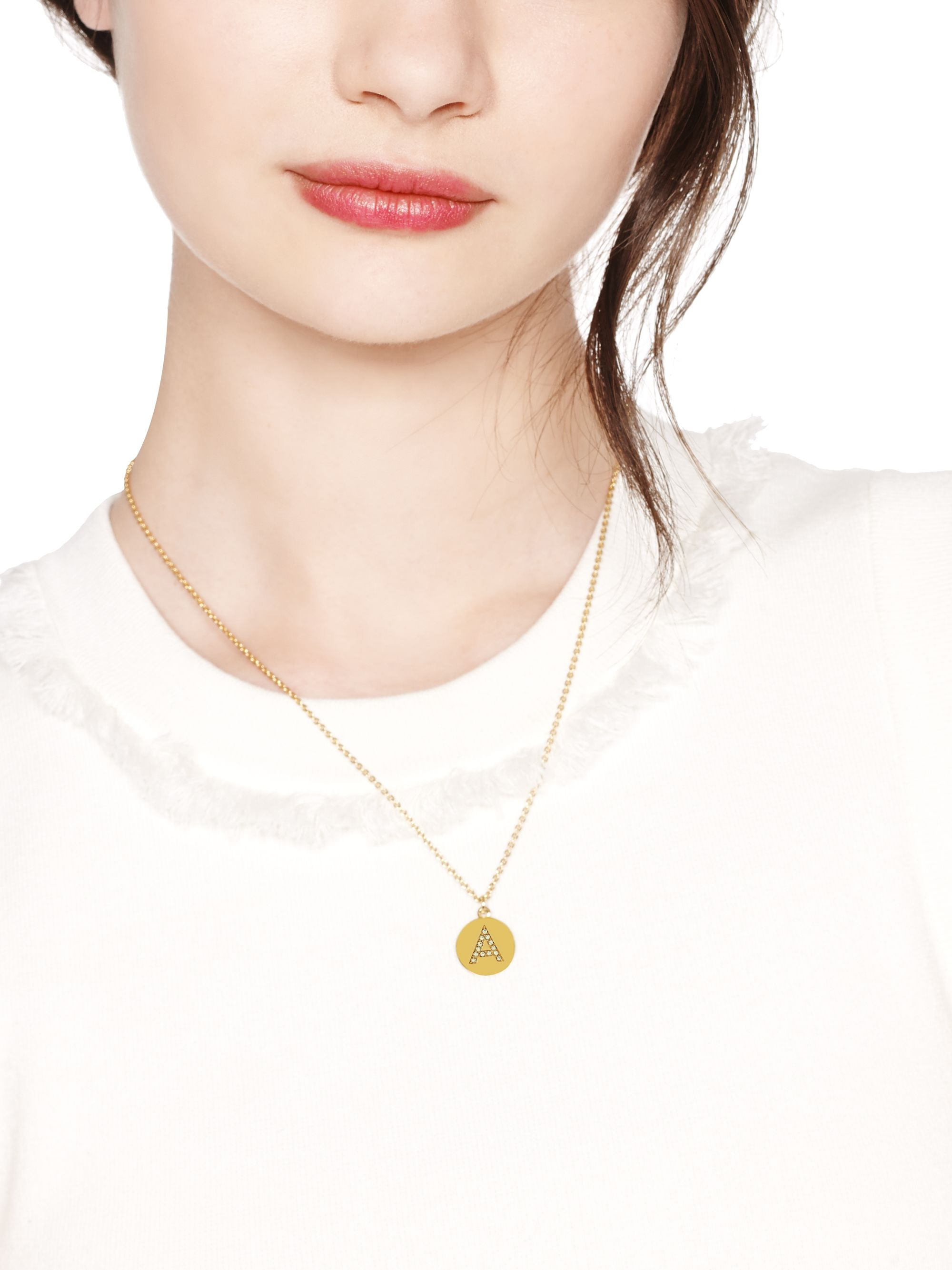 Elegant gold initial necklace pendant jewellrys website gold necklace with round initial pendant the best necklaces in 2017 aloadofball Image collections