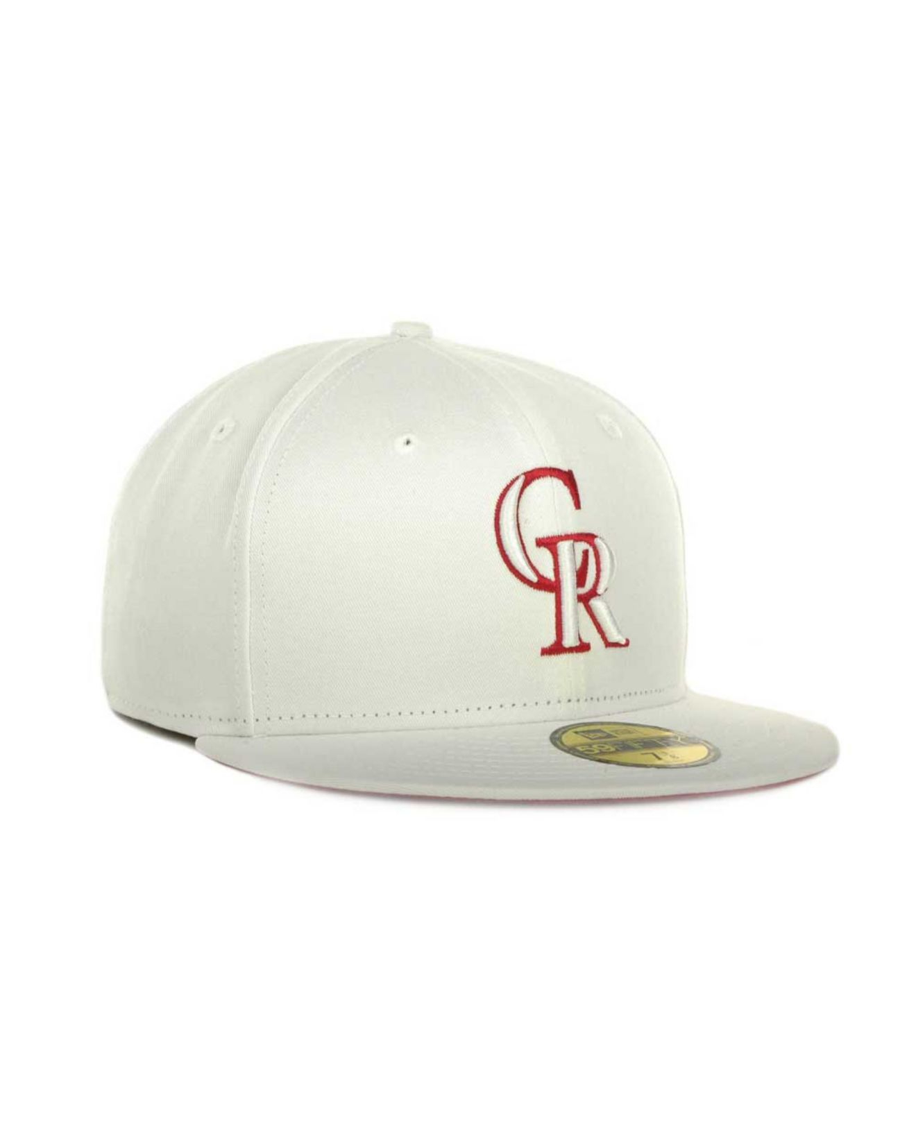 buy popular aa642 5bbd9 ... cheapest lyst ktz colorado rockies mlb white on color 59fifty cap in  white e71e0 91659