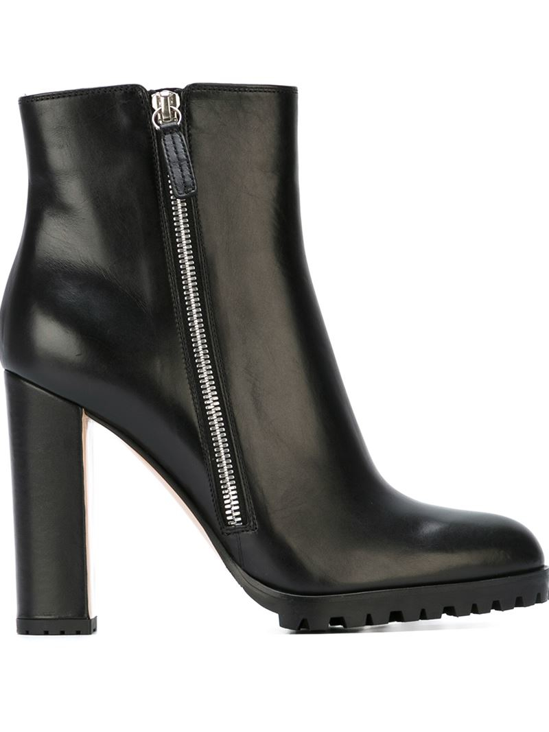lyst gianvito rossi ankle boots in black. Black Bedroom Furniture Sets. Home Design Ideas