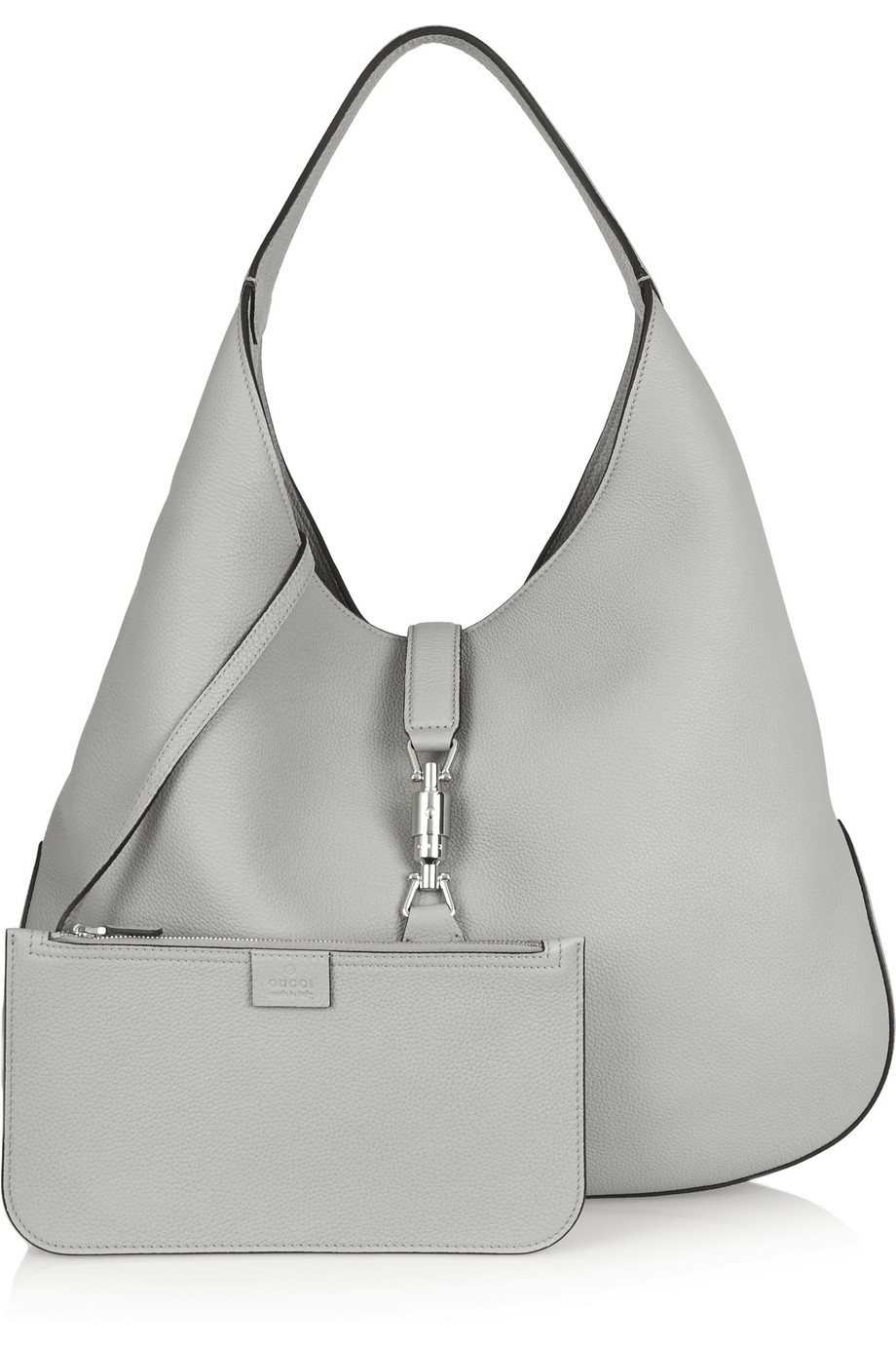 Lyst - Gucci Jackie Soft Hobo Textured-leather Shoulder Bag in Gray 6530642f6d3dd