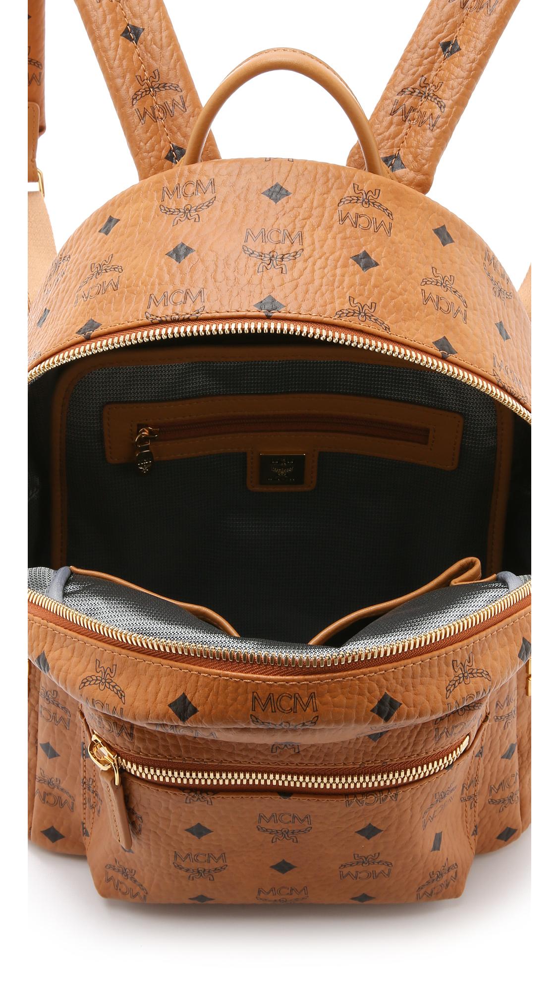 6696b8f536757 Lyst - Mcm Side Stud Small Stark Backpack - Cognac in Brown