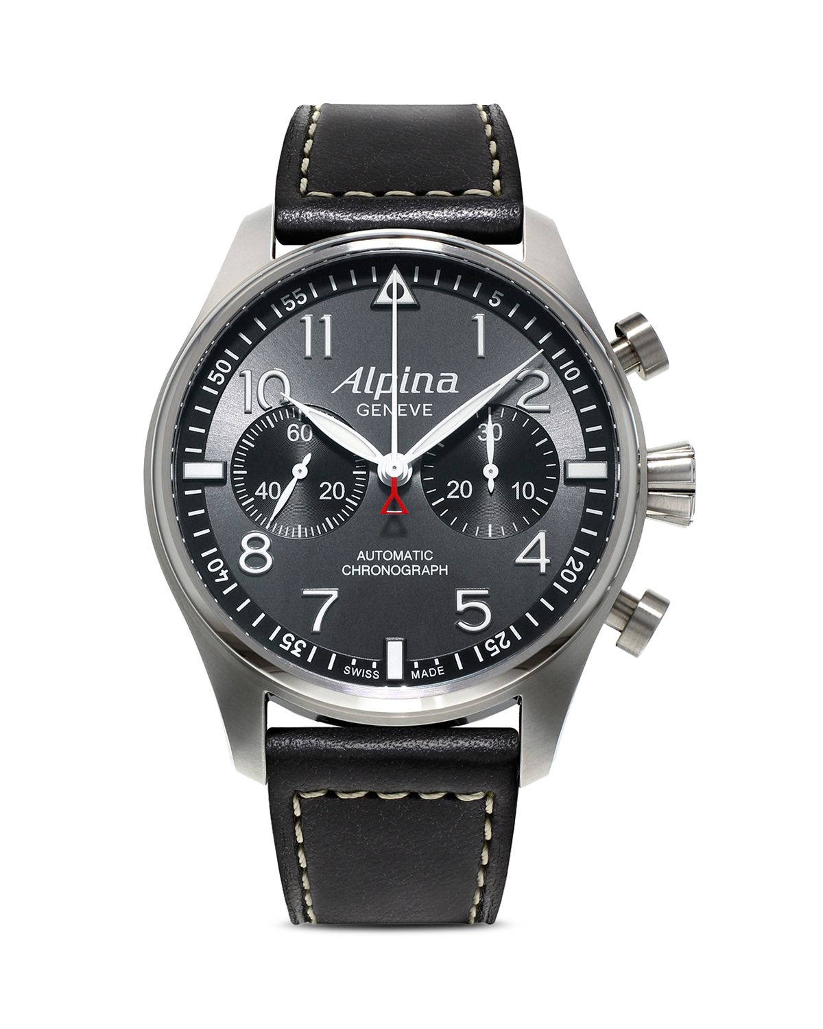 alpina startimer pilot chronograph watch 44mm in metallic for men lyst. Black Bedroom Furniture Sets. Home Design Ideas