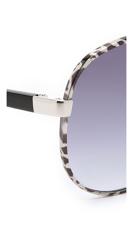 70dd13f1e9d7 Lyst - Diane von Furstenberg Sental Sunglasses in Blue