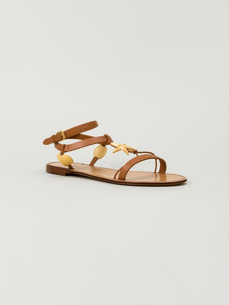 88b12cafc244 Lyst - Valentino Starfish Sandals in Brown