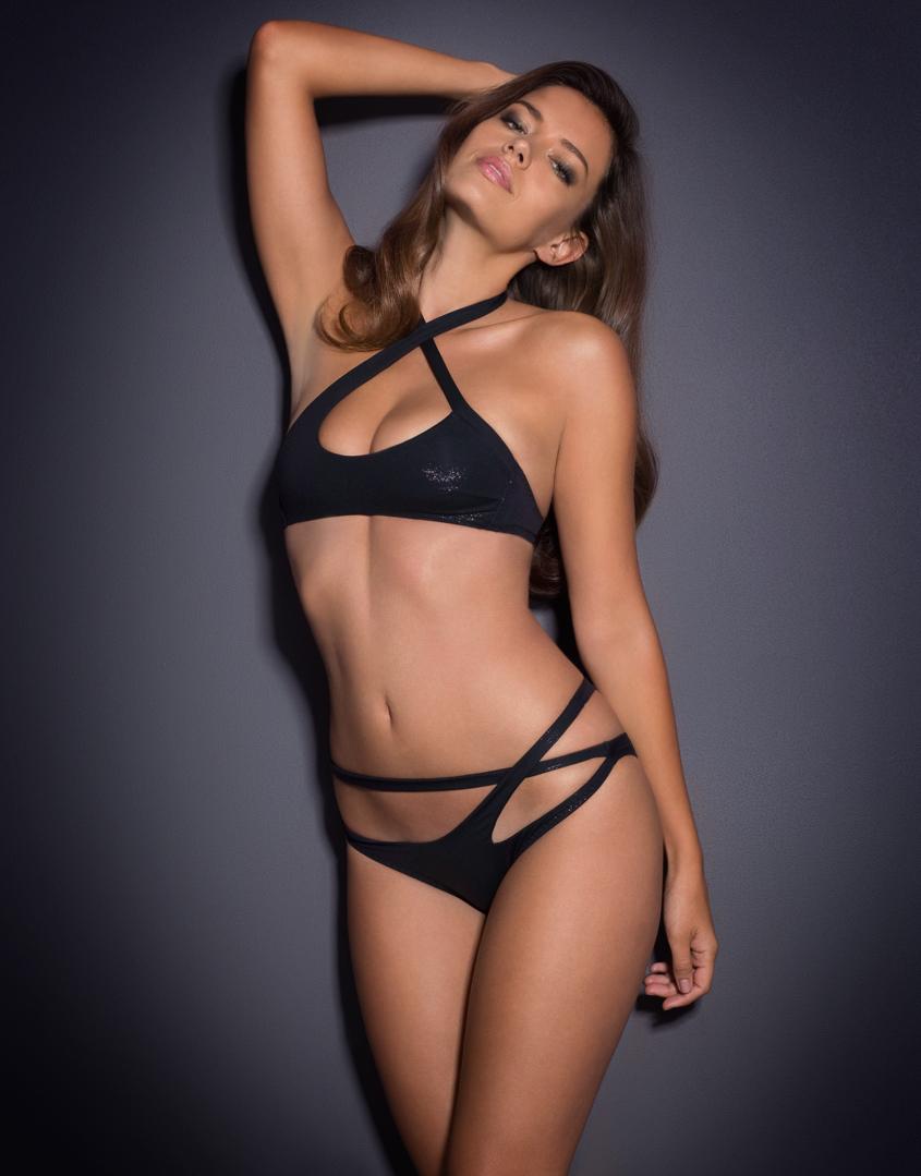 0faaaf727f Lyst - Agent Provocateur Raven Bikini Brief Black in Black