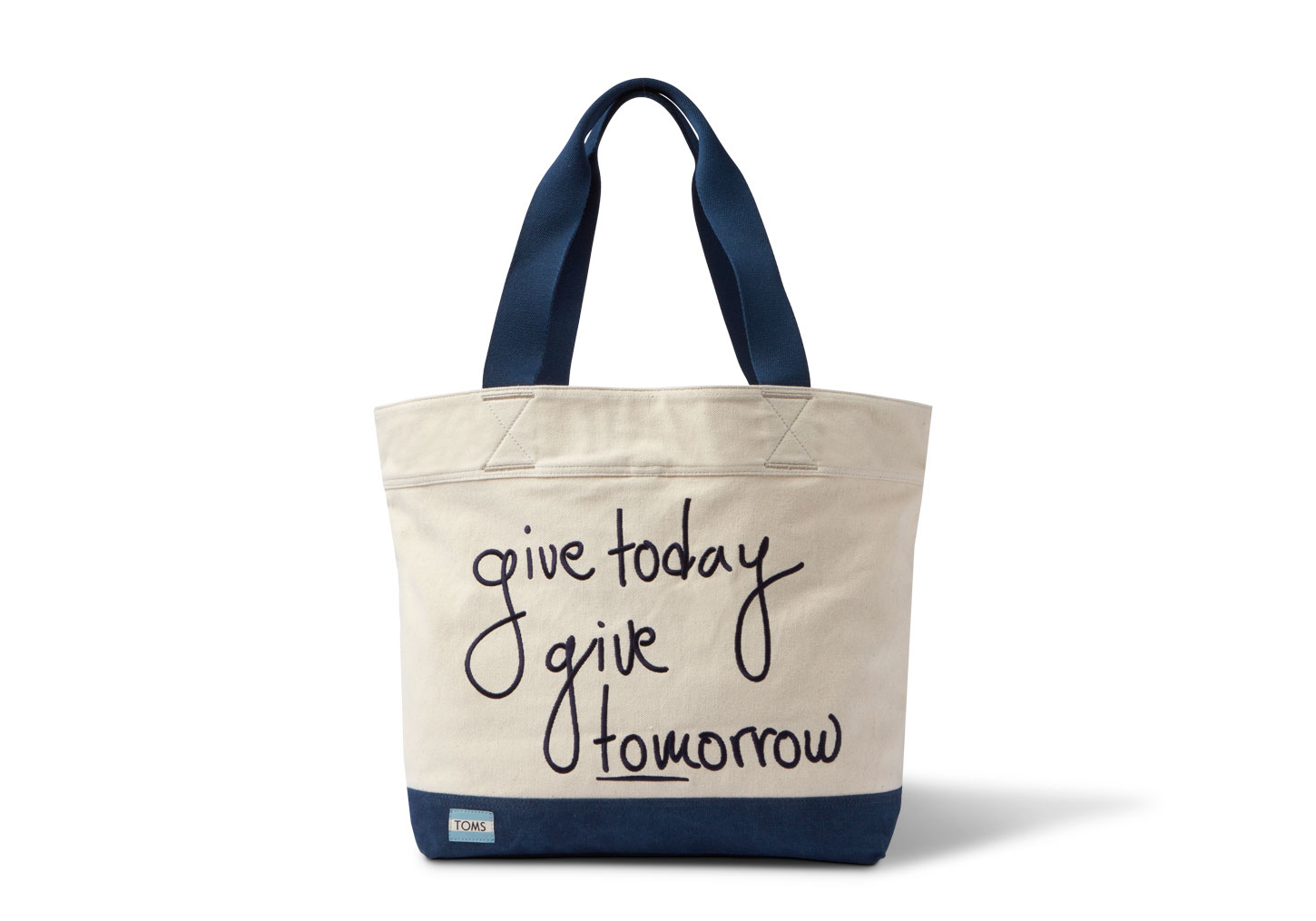 toms give today transport tote in beige