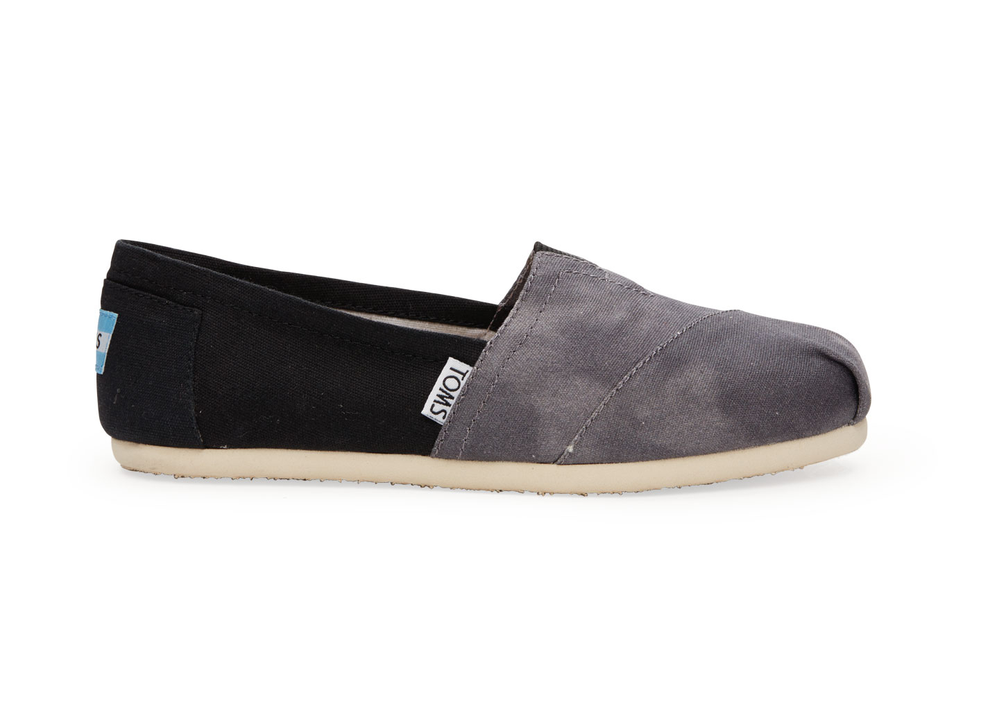 3b502bb9e223 Lyst - TOMS Black Washed Canvas Women S Classics in Black
