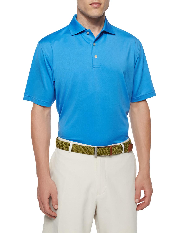 Lyst peter millar solid short sleeve jersey polo shirt for Peter millar polo shirts