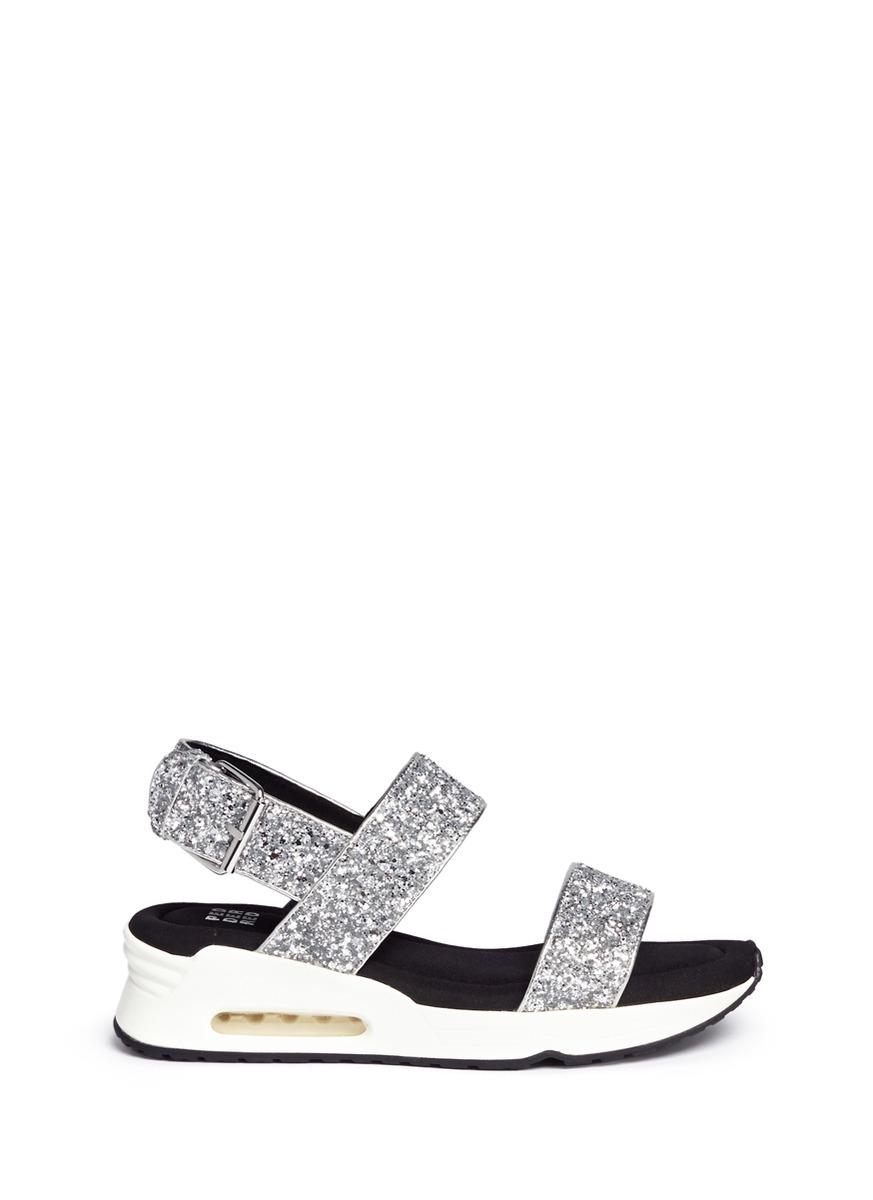 Pedder Red Ari Air Cushion Sneaker Sole Glitter Sandals