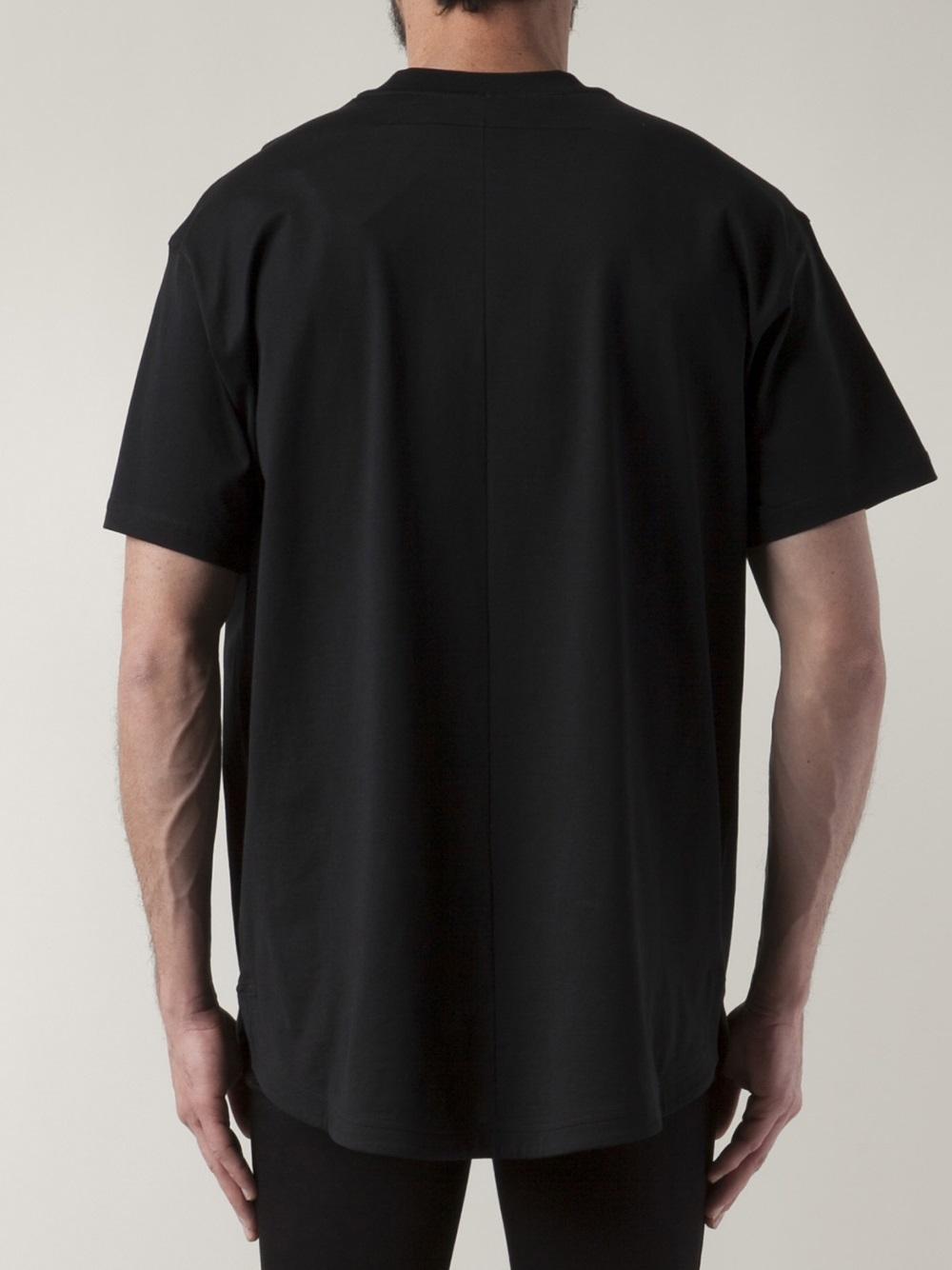 Black Tee Shirt Back Custom Shirt
