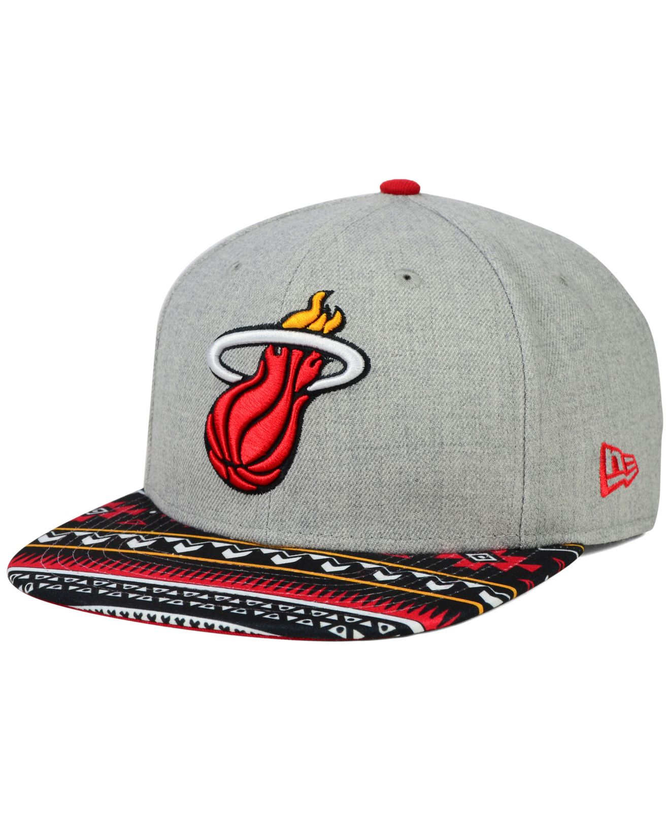 new product cc4e2 f8a7d ... clearance lyst ktz miami heat neon mashup 9fifty snapback cap in gray  for men 80121 9e261