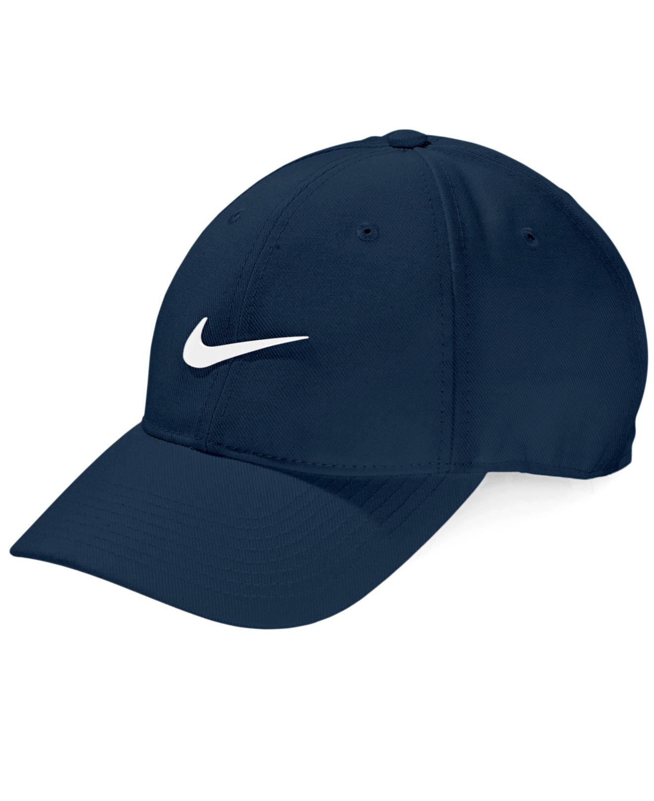 91b5e1fa459 Lyst - Nike Legacy Drifit Wool Adjustable Hat in Blue for Men