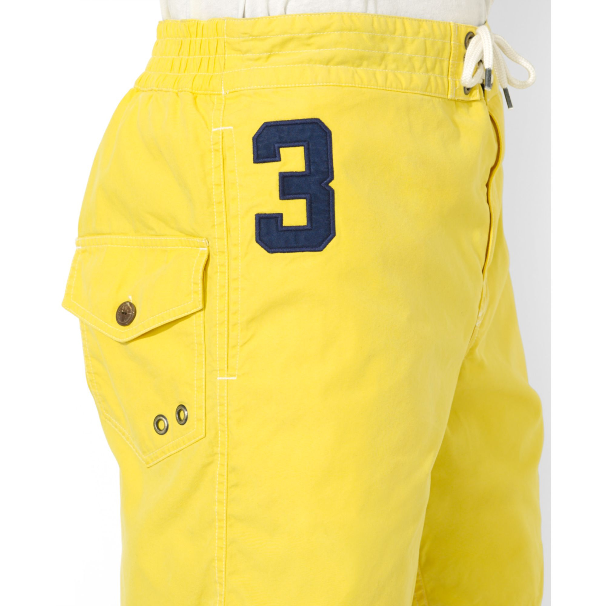 ... lyst ralph lauren polo sanibel big pony swim trunks in yellow for men