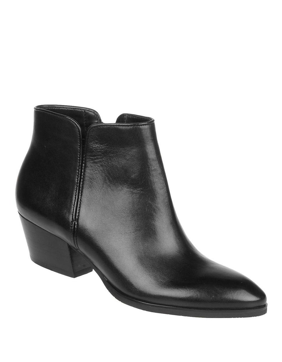 franco sarto quasar leather boots in black lyst