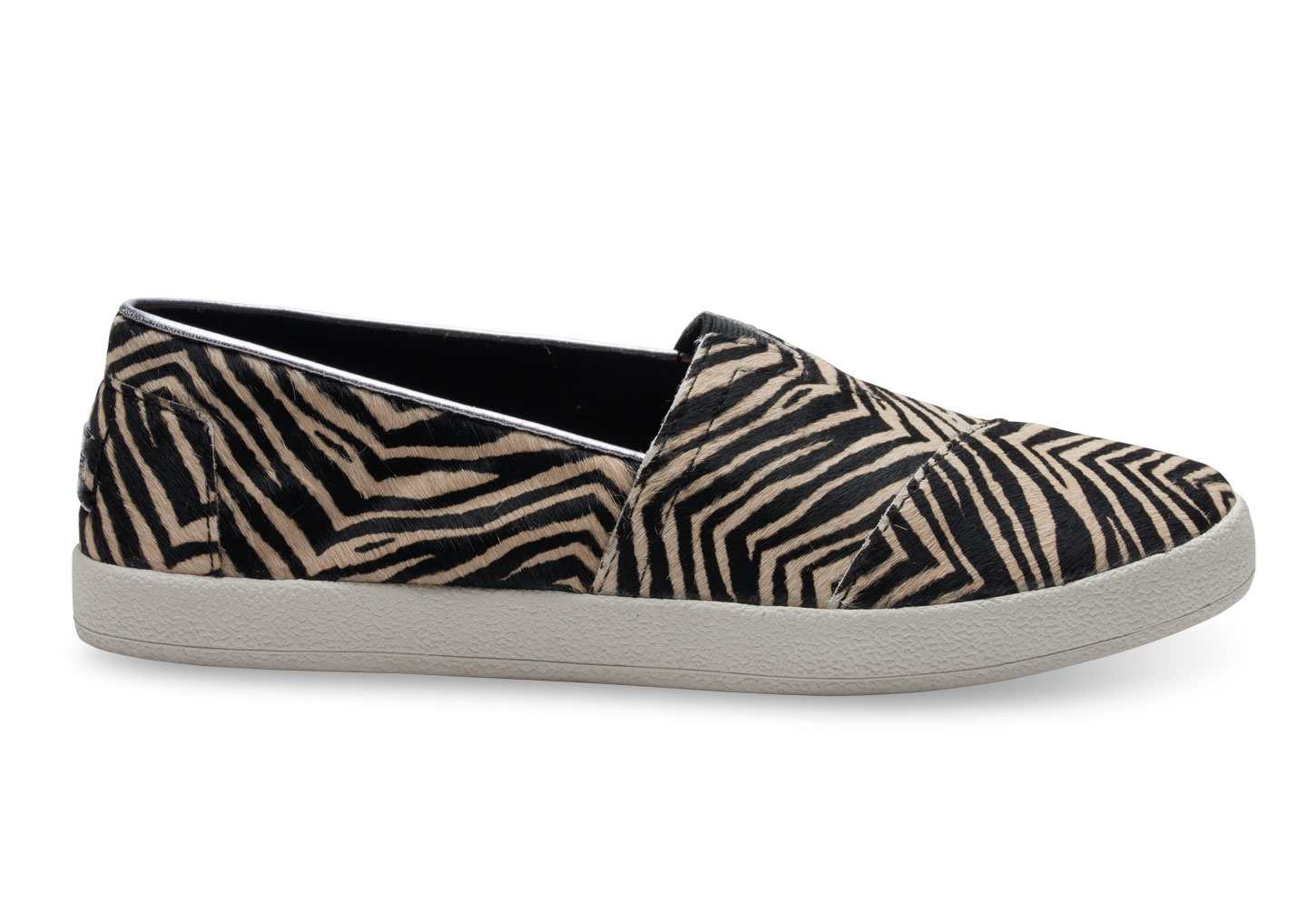 Buy Women Shoes / Toms Avalon Zebra Pony Effect Slip On Trainers