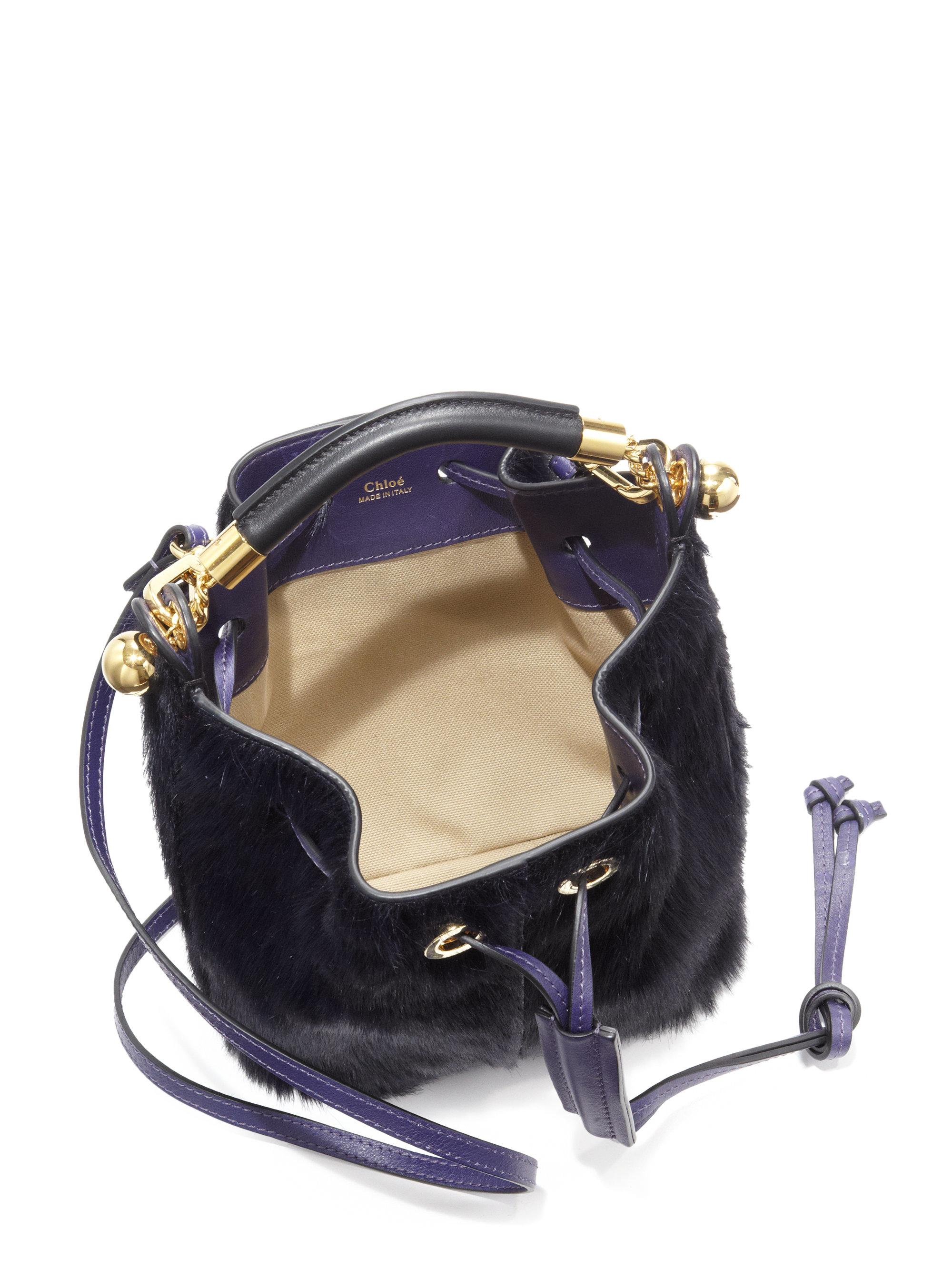 buy chloe bags online - chloe calfskin small marcie round crossbody dark velvet