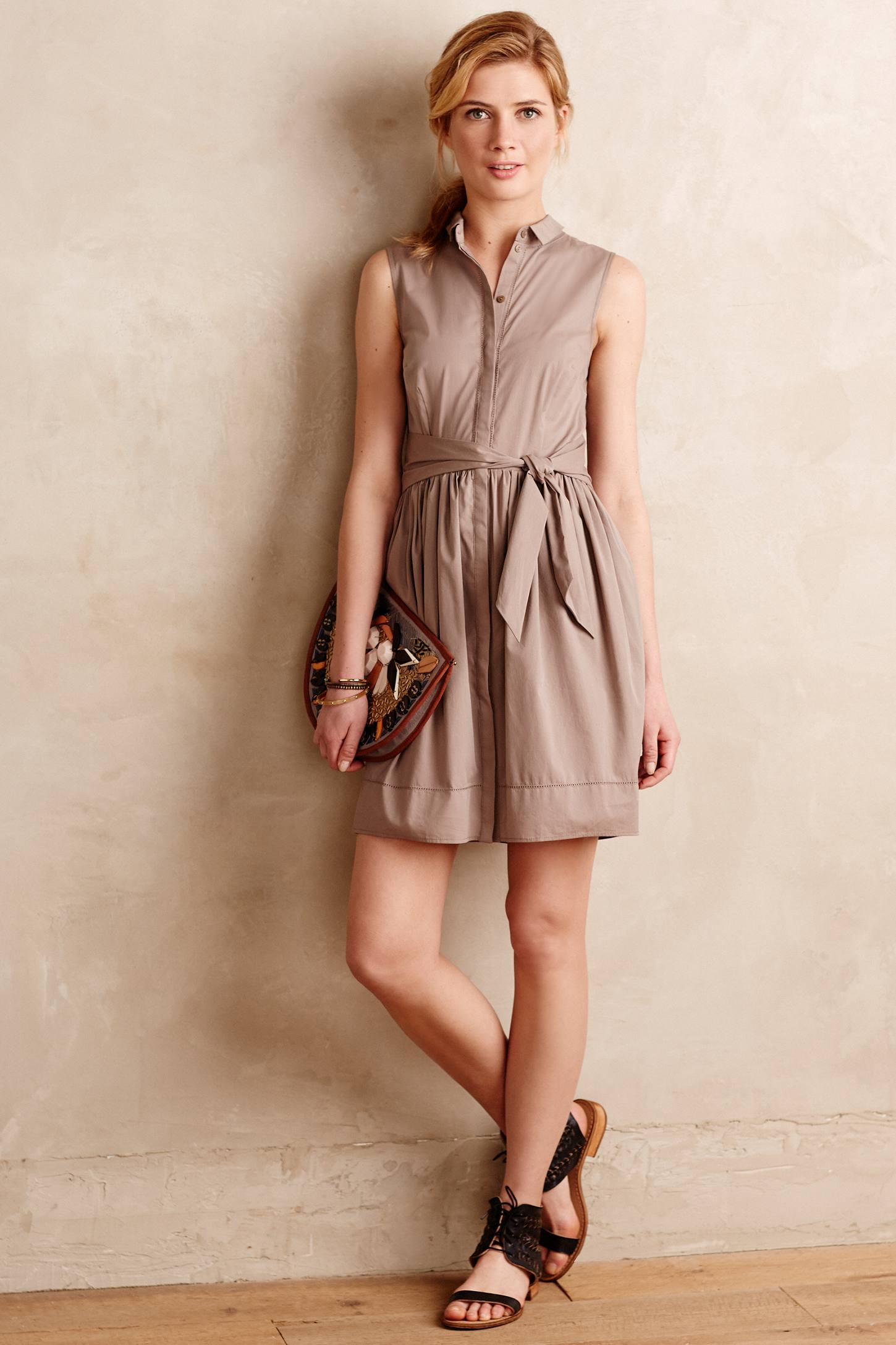 Beyond vintage Oak Street Shirtdress in Brown - Lyst