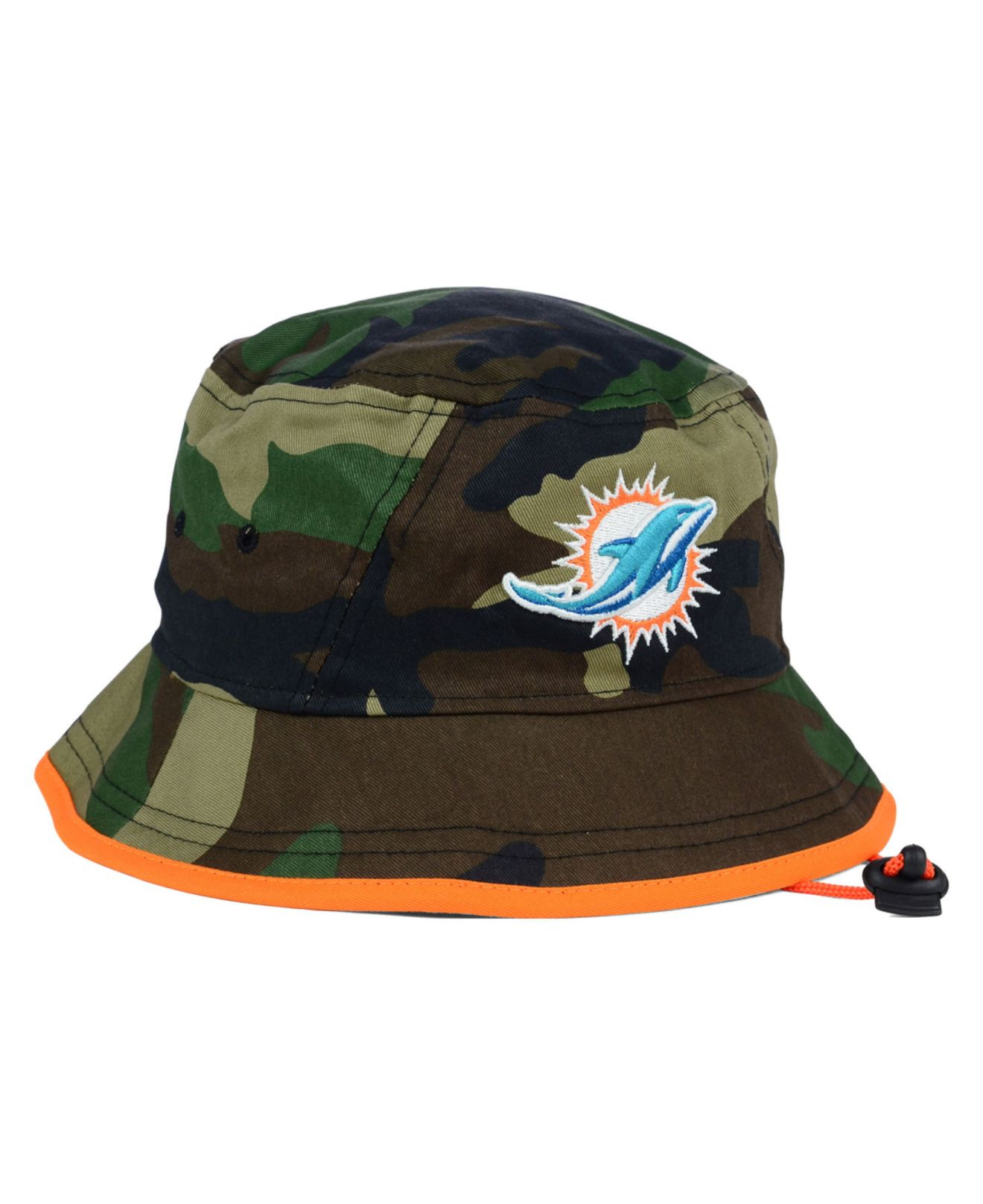 f24d9f50e2e ... greece lyst ktz miami dolphins camo pop bucket hat in green for men  e1724 77667 ...