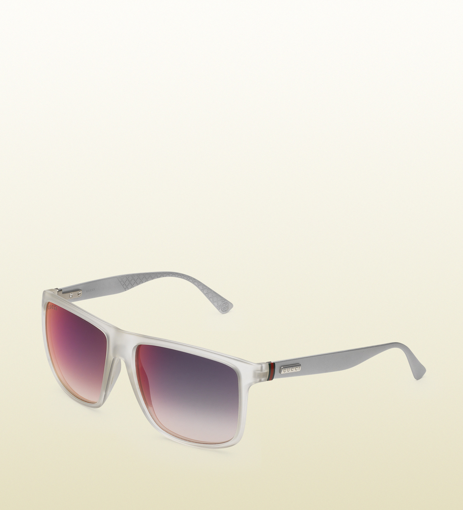 fbe2be969d60e Lyst - Gucci Square-frame Aluminum And Injected Sunglasses in Gray ...