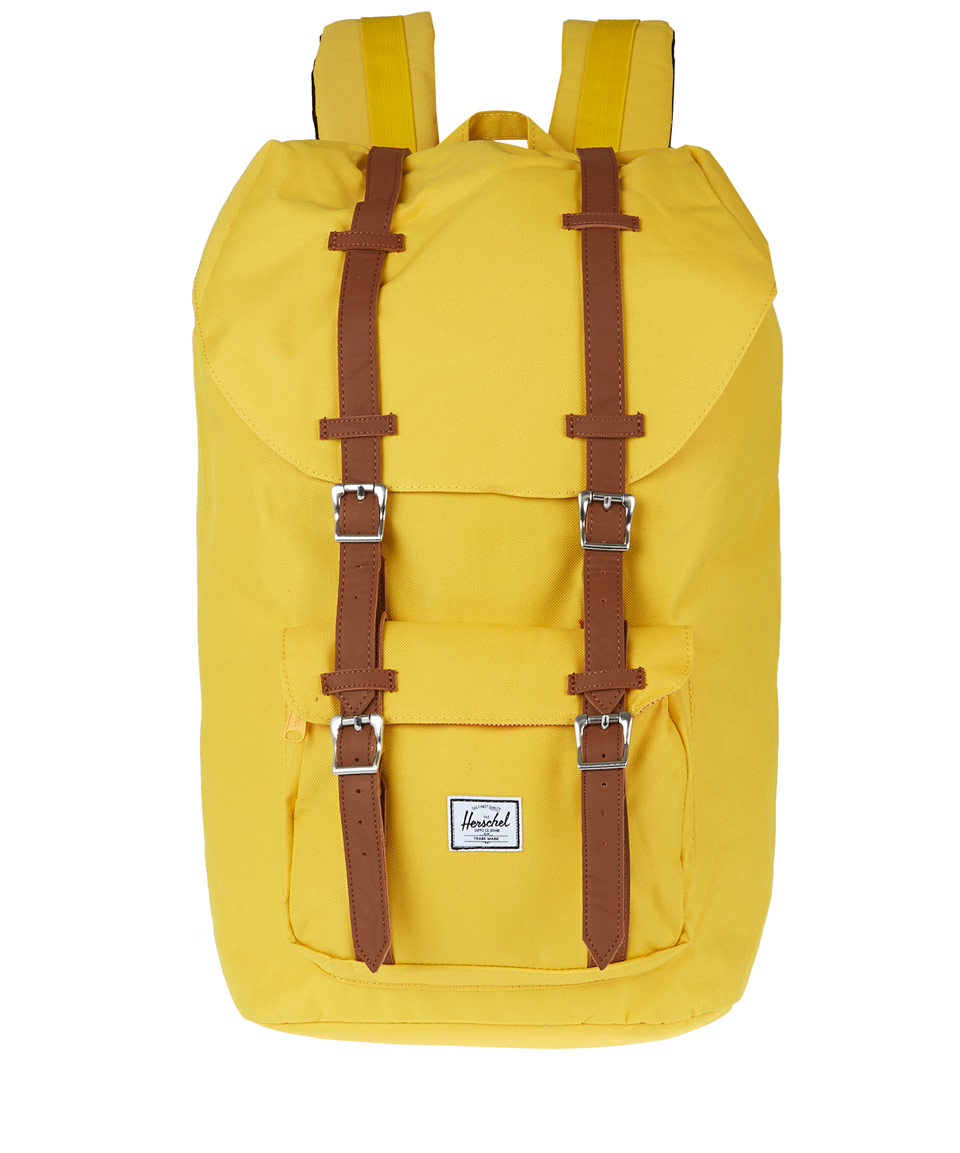 lyst herschel supply co yellow little america backpack. Black Bedroom Furniture Sets. Home Design Ideas